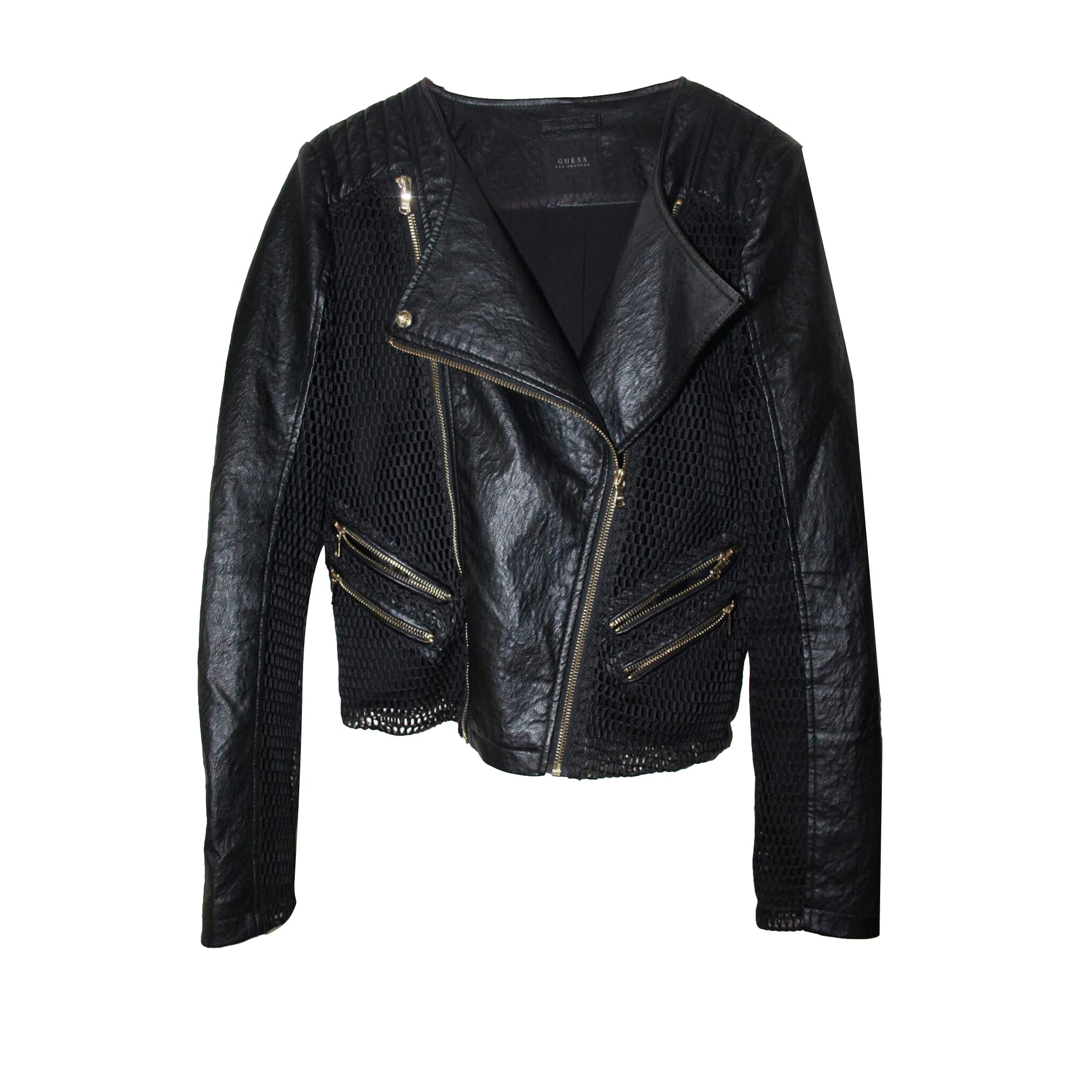 Leather Jacket GUESS Black