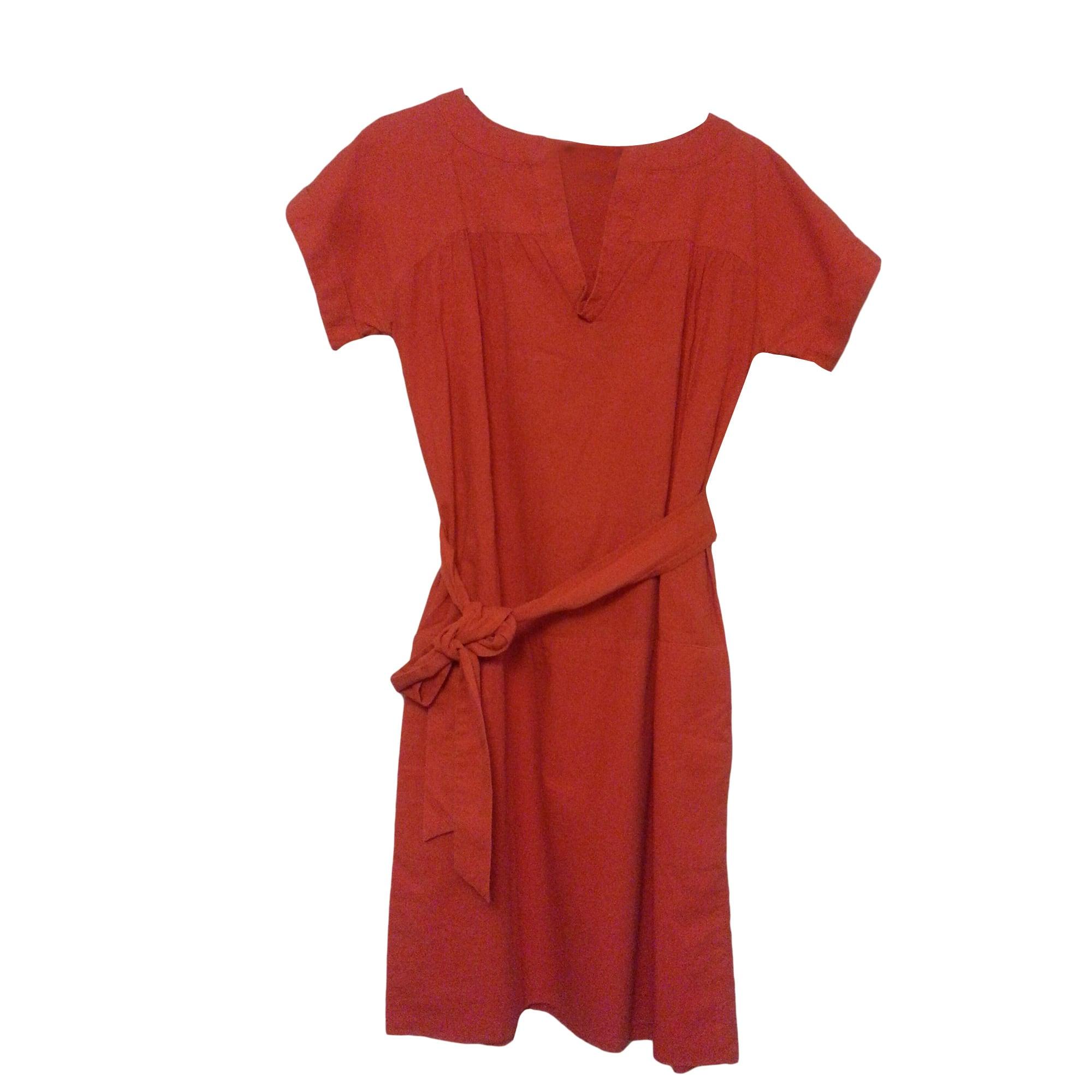 robe rouge comptoir des cotonniers