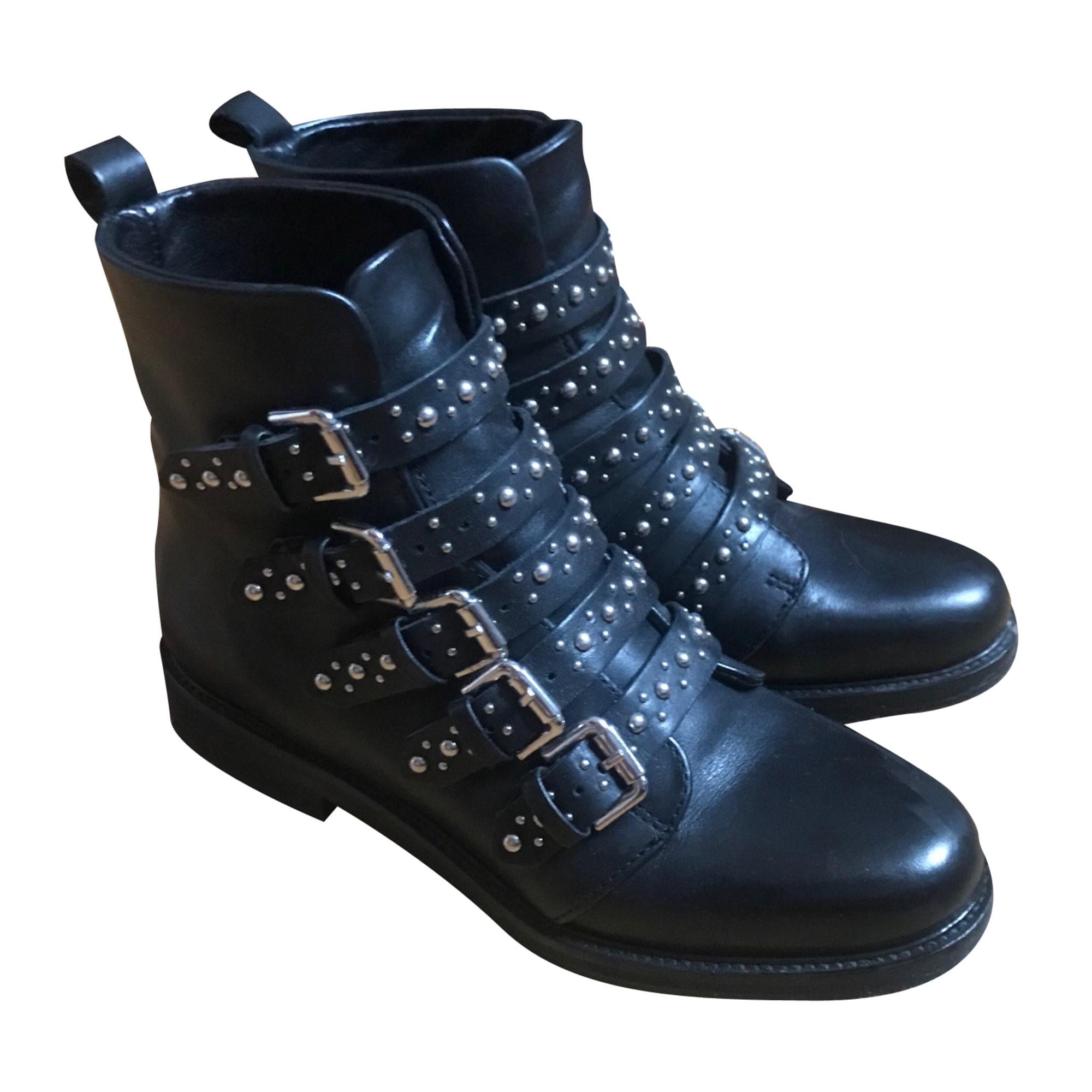 Bottines   low boots à talons MAJE 36 noir - 7488638 4c7af69f9bd1