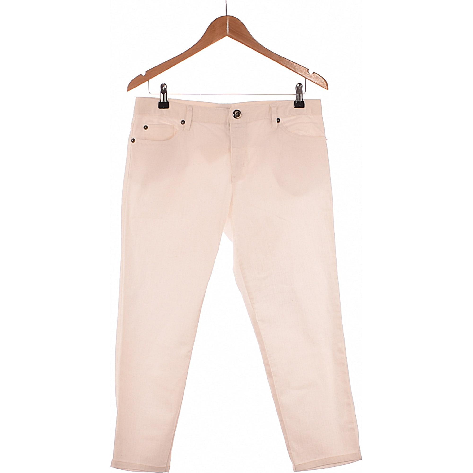 Jeans droit LA REDOUTE Blanc, blanc cassé, écru