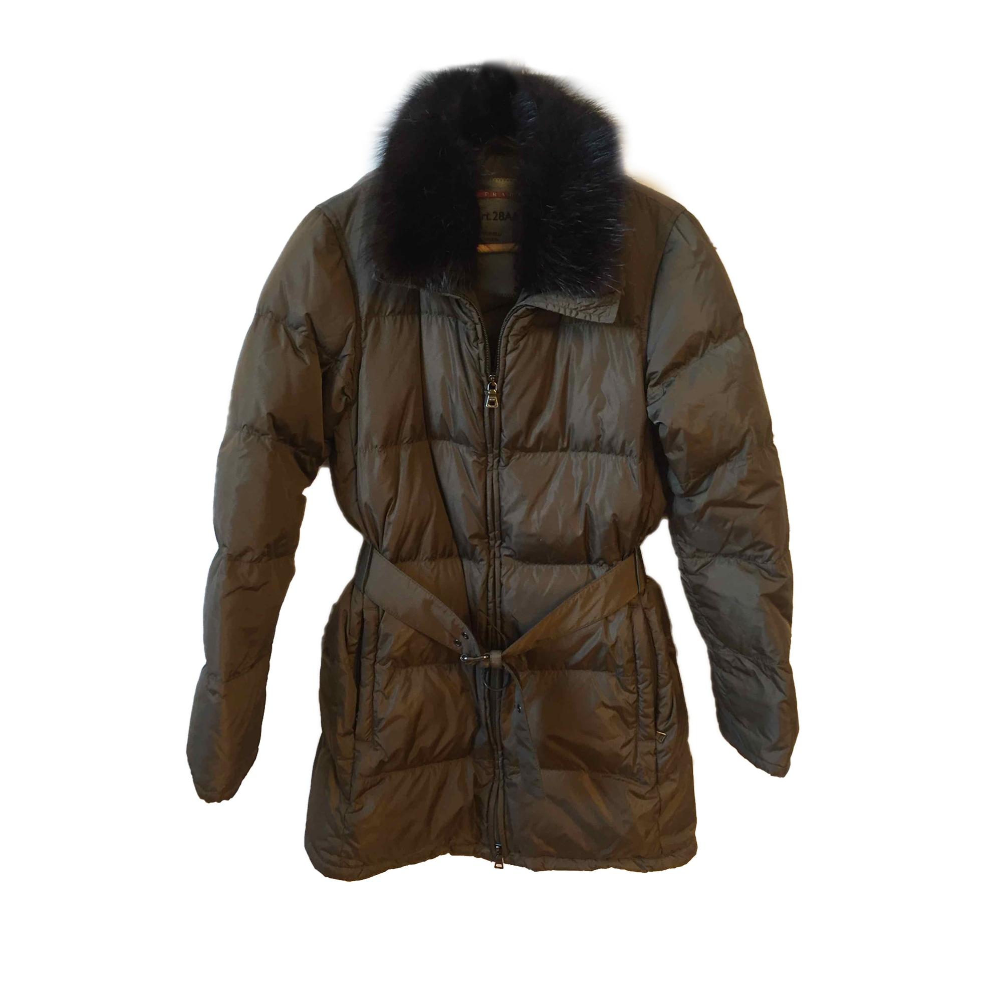Doudoune PRADA 38 (M, T2) kaki vendu par Closet2closet - 7492171 69c3d285158
