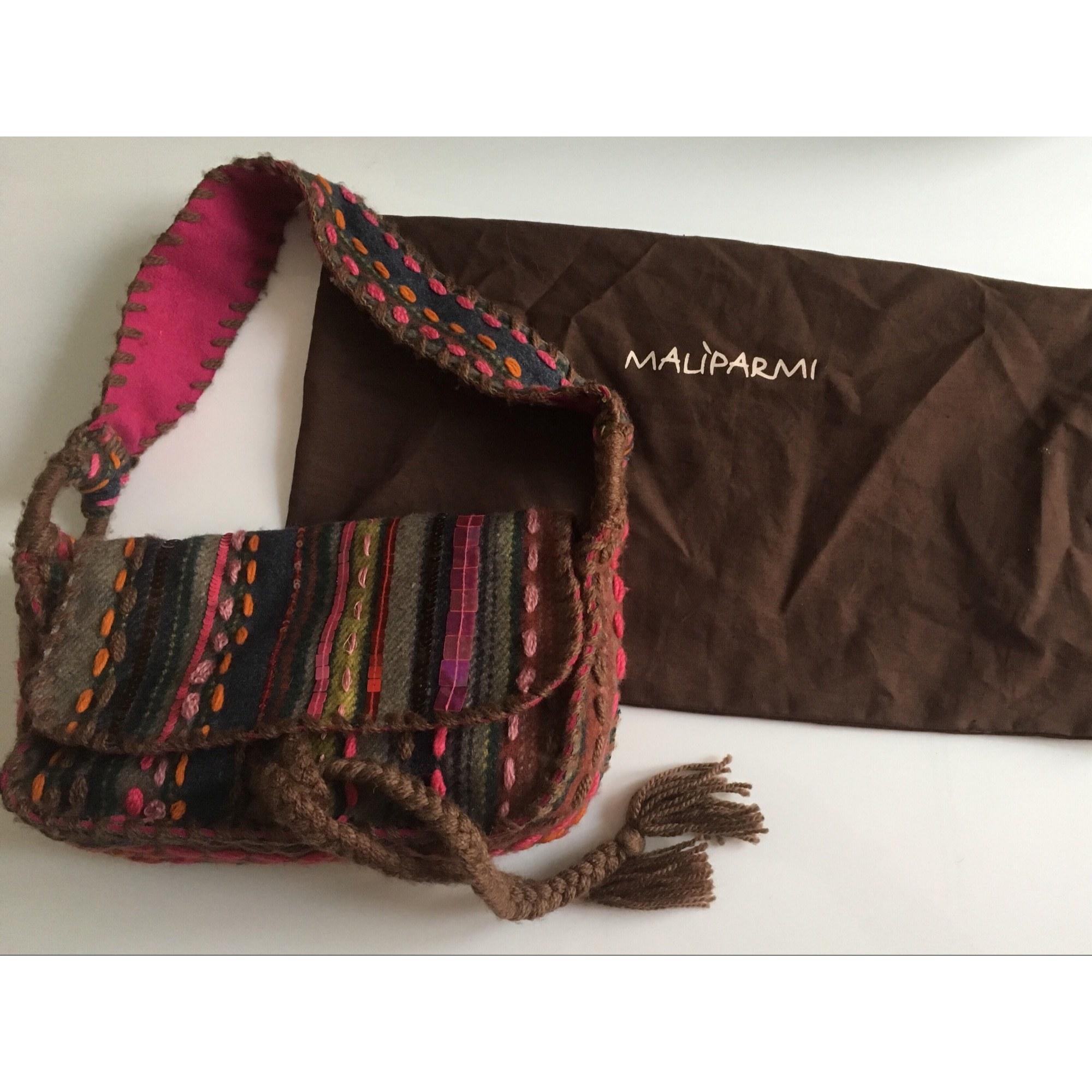 Sac à main en tissu MALIPARMI laine multicolore