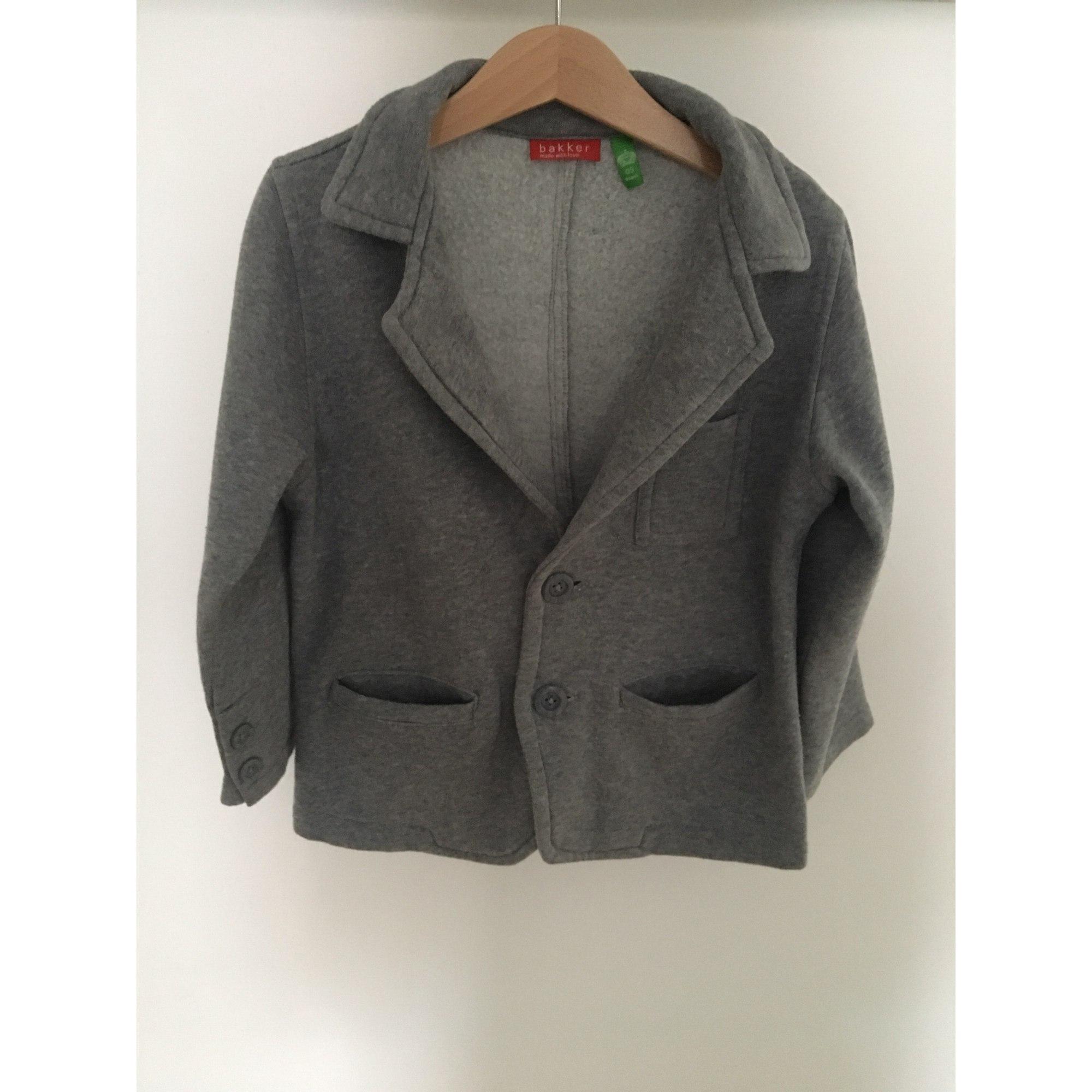 Veste BAKKER MADE WITH LOVE coton gris 5-6 ans