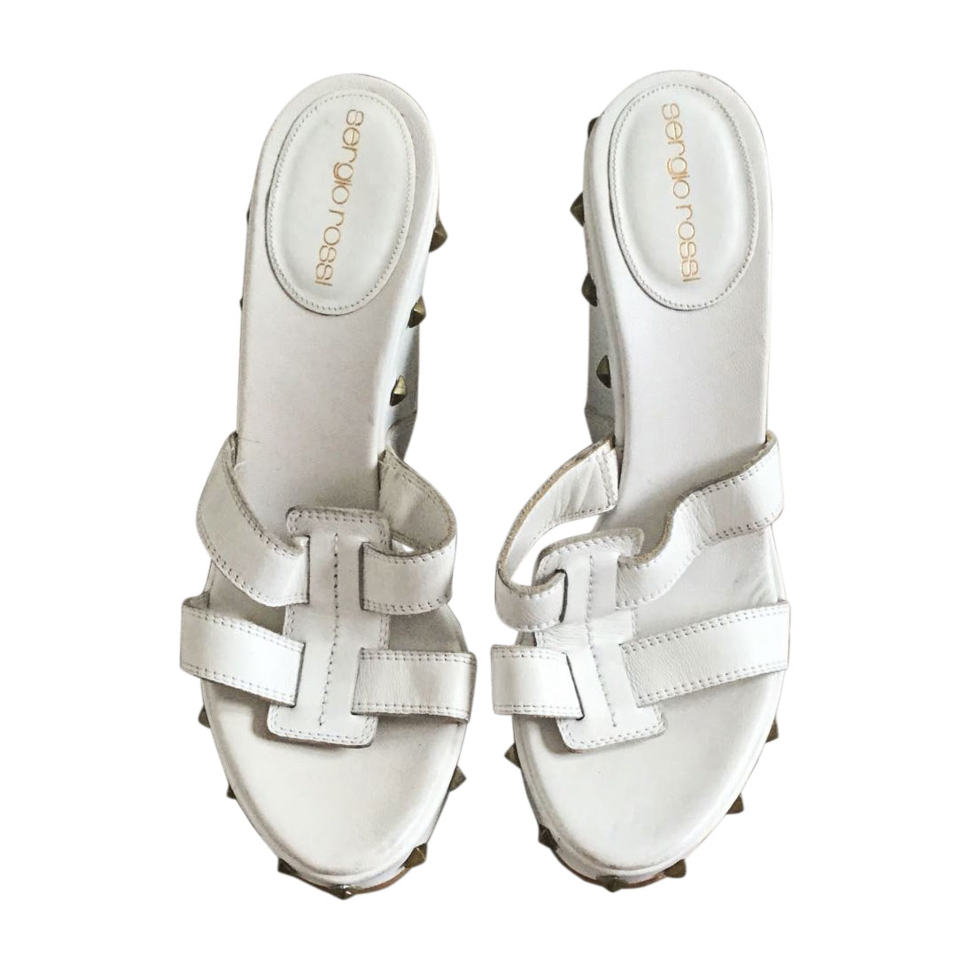 Wedge Sandals SERGIO ROSSI White, off-white, ecru