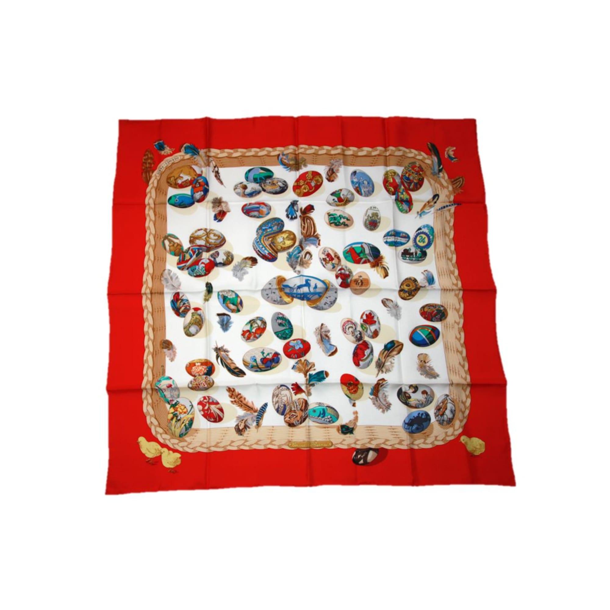 c16578c9841 Foulard HERMÈS rouge - 7501323