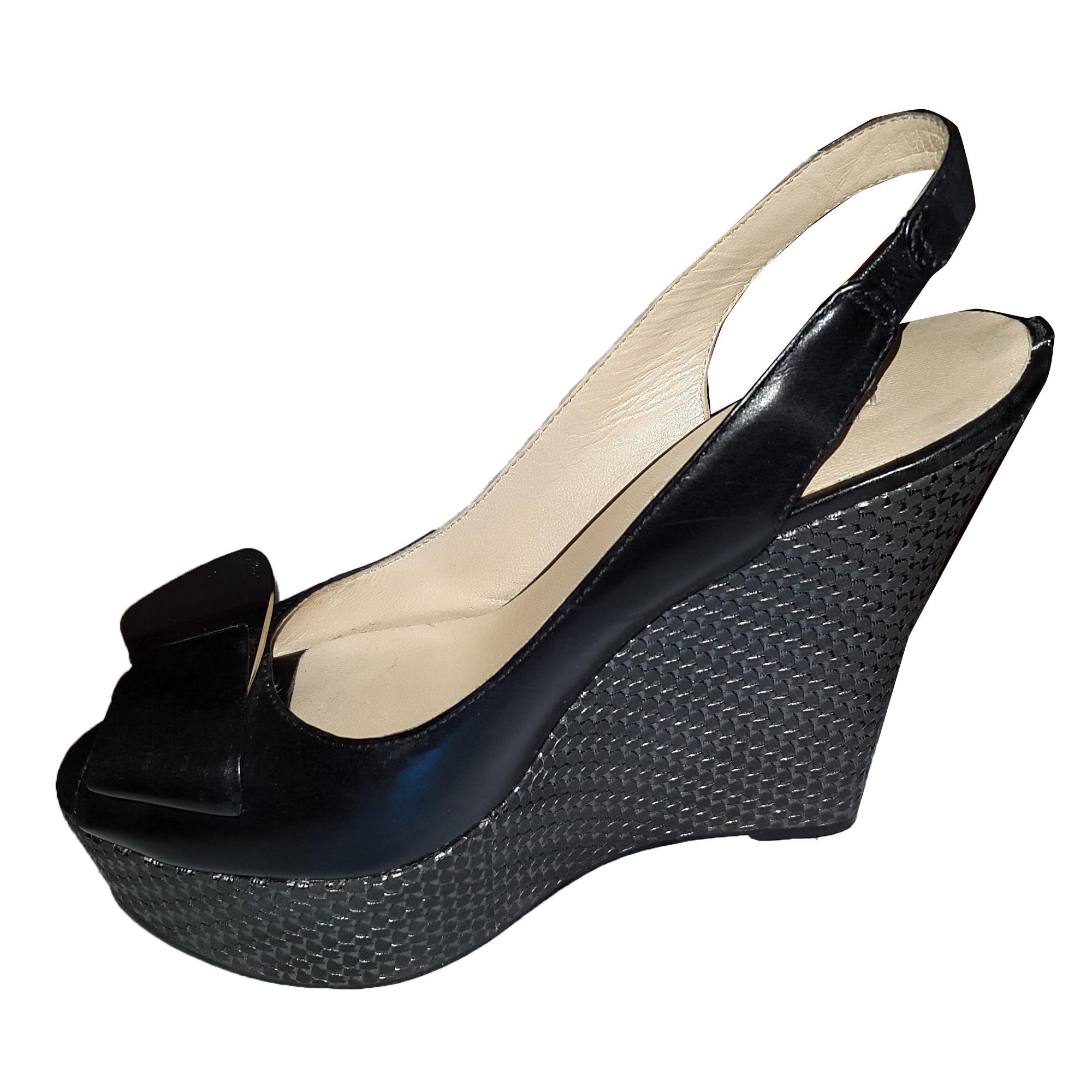 Noir 37 Vendu 7502490 Nileco78 Compensées Sandales Par Guess lcJuTF15K3