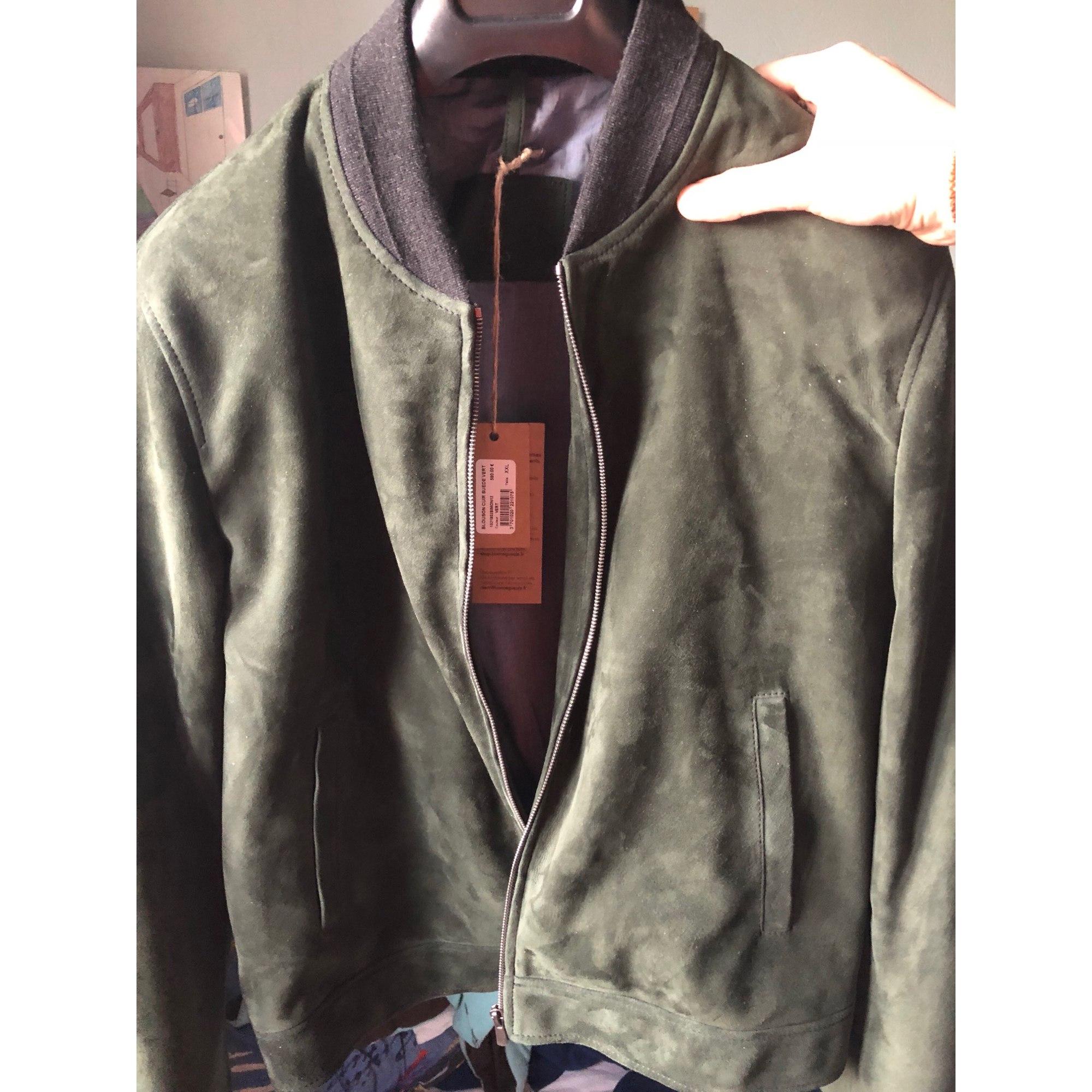 7dbd59ab37af Blouson en cuir BONNE GUEULE 60 (XXL) vert - 7508952