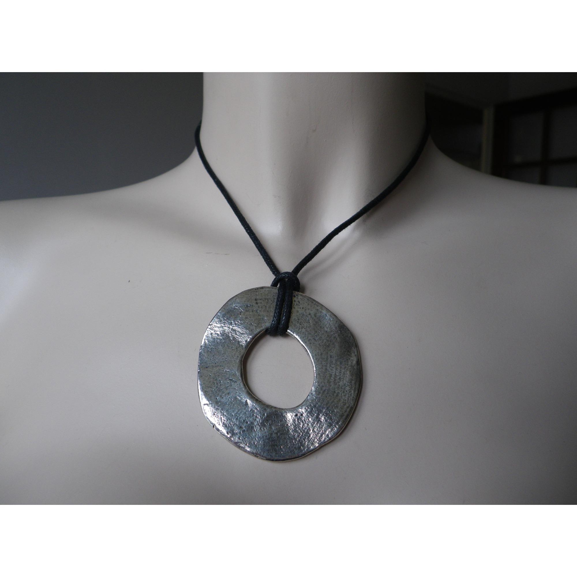 Collier LILI LA PIE métal argent