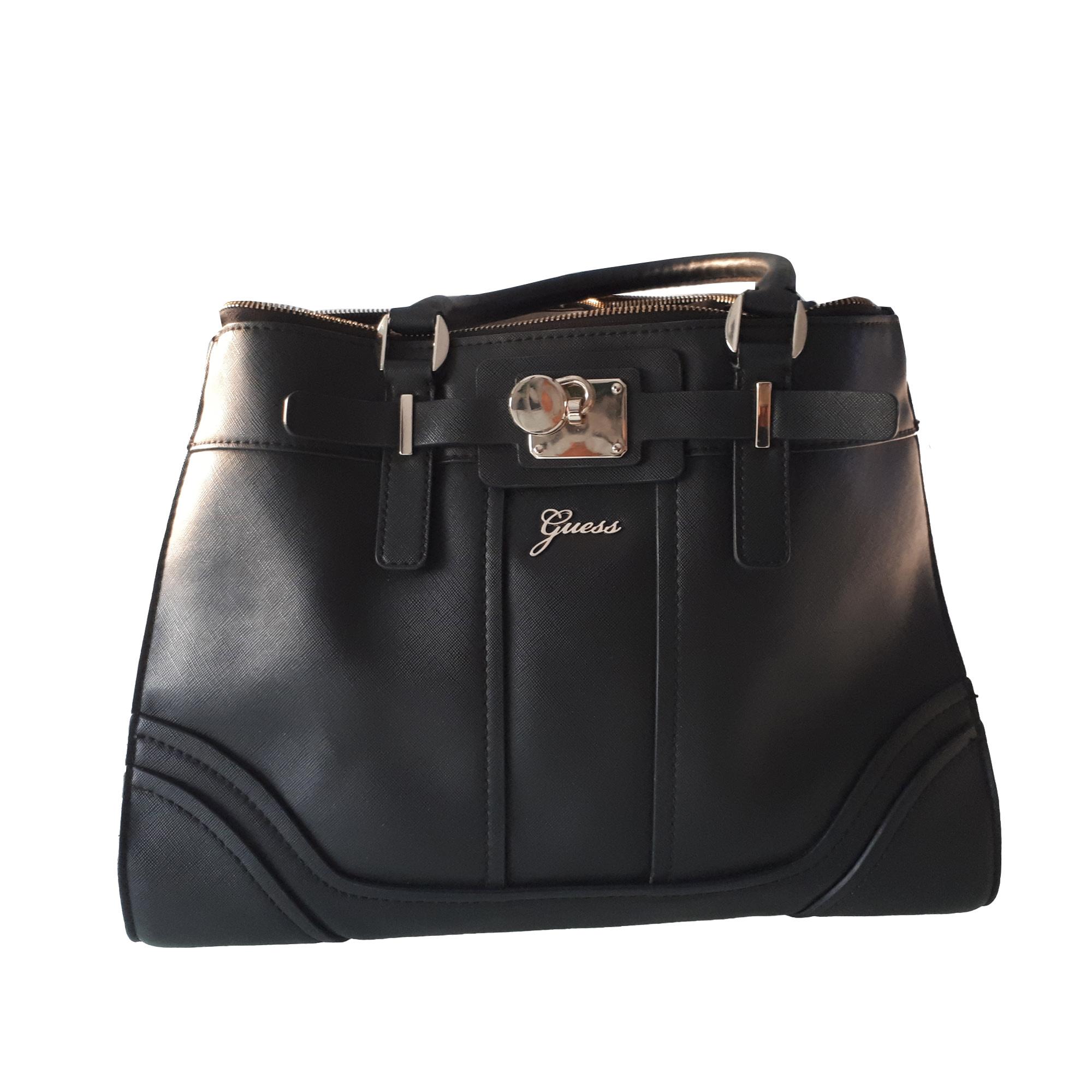 Leather Handbag GUESS Black