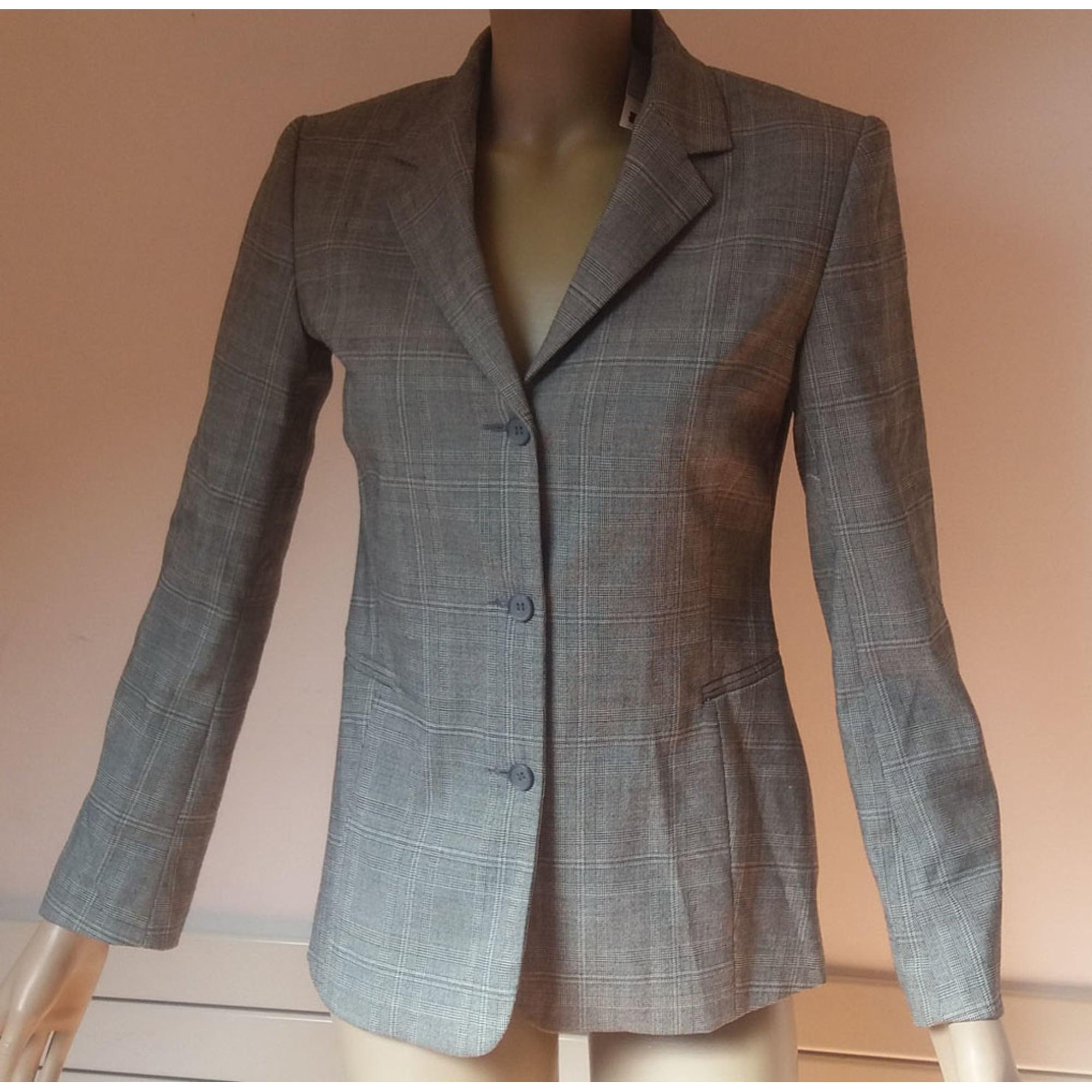 Blazer, veste tailleur CAROLL 36 (S, T1) gris - 7518675 409eaa8cc33