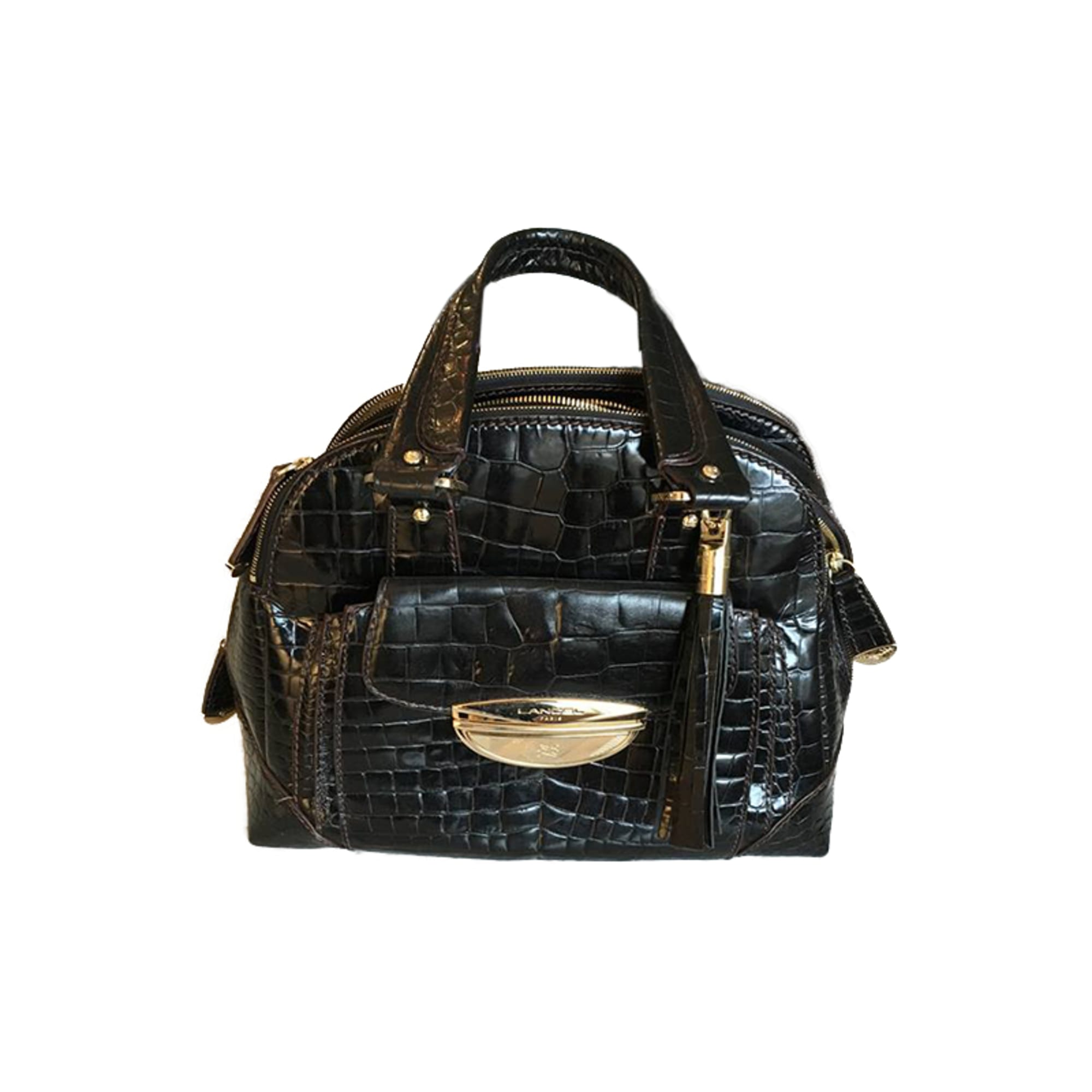 Leather Handbag LANCEL Black