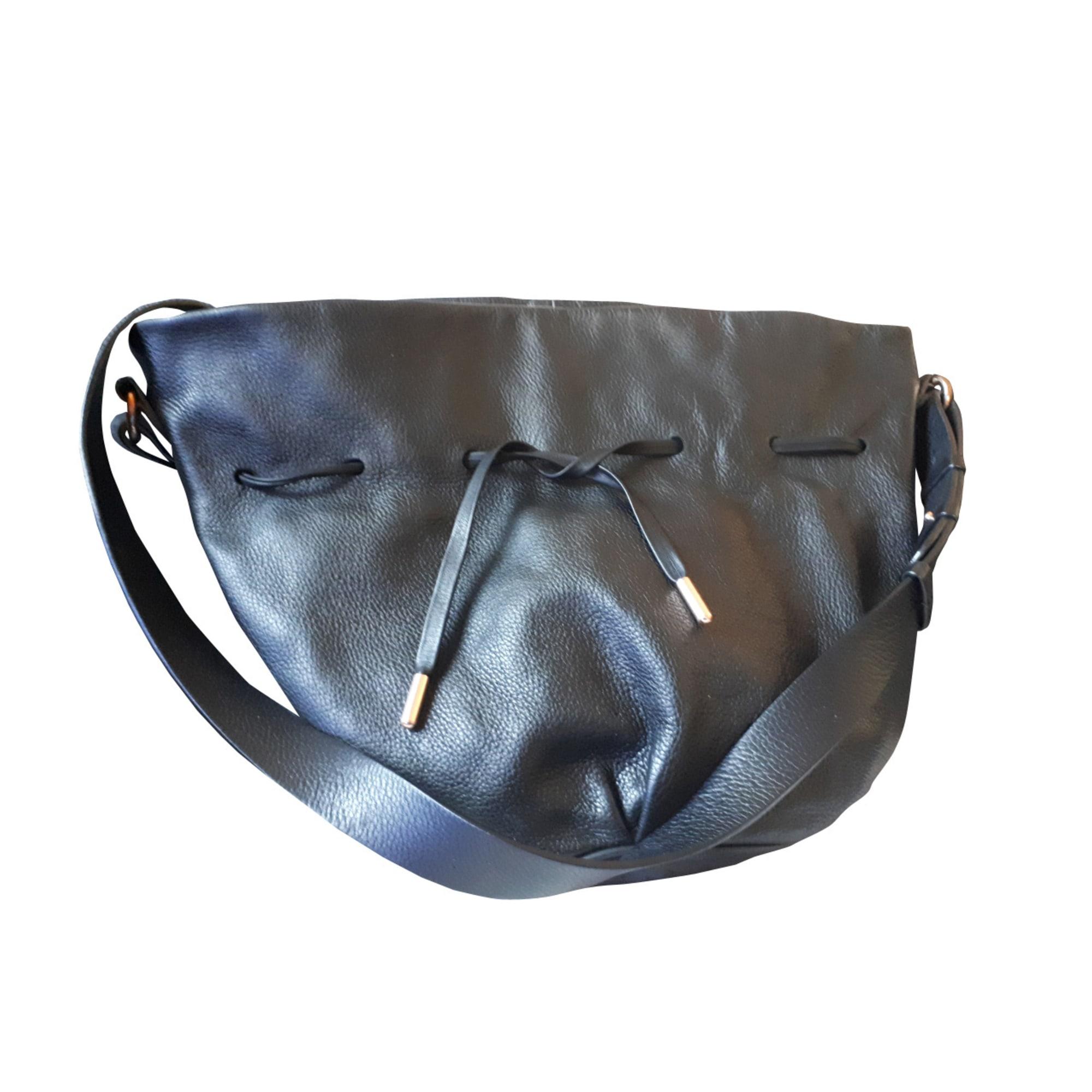 a54f89e246 Sac en bandoulière en cuir REPETTO noir - 7522735
