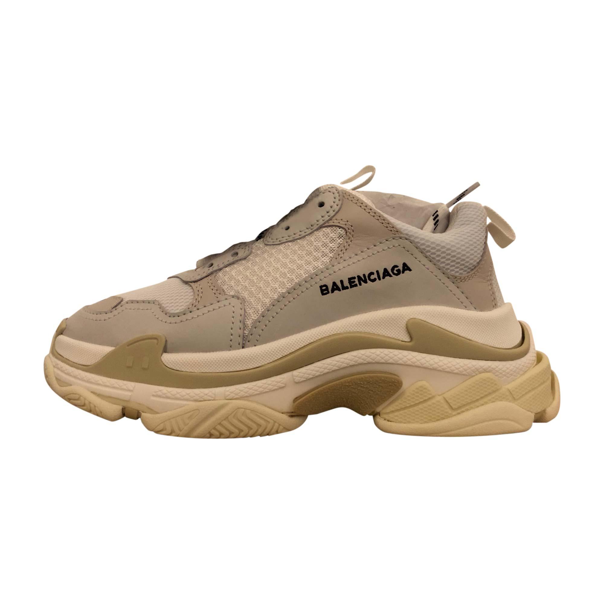Chaussures à lacets  BALENCIAGA Blanc, blanc cassé, écru