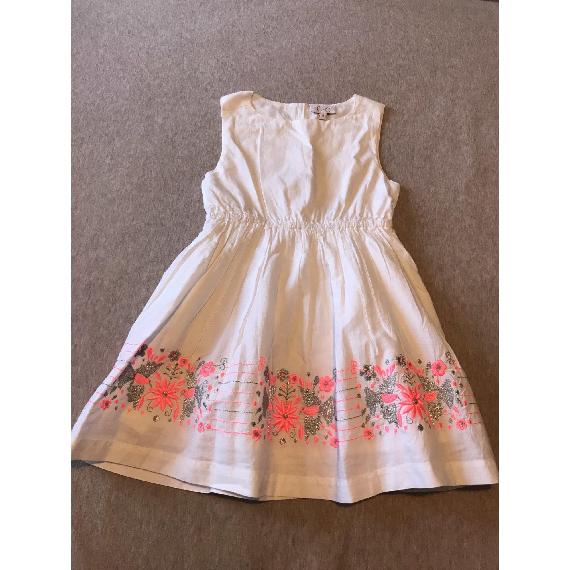 Robe C DE C BY CORDELIA DE CASTELLANE coton blanc 3-4 ans