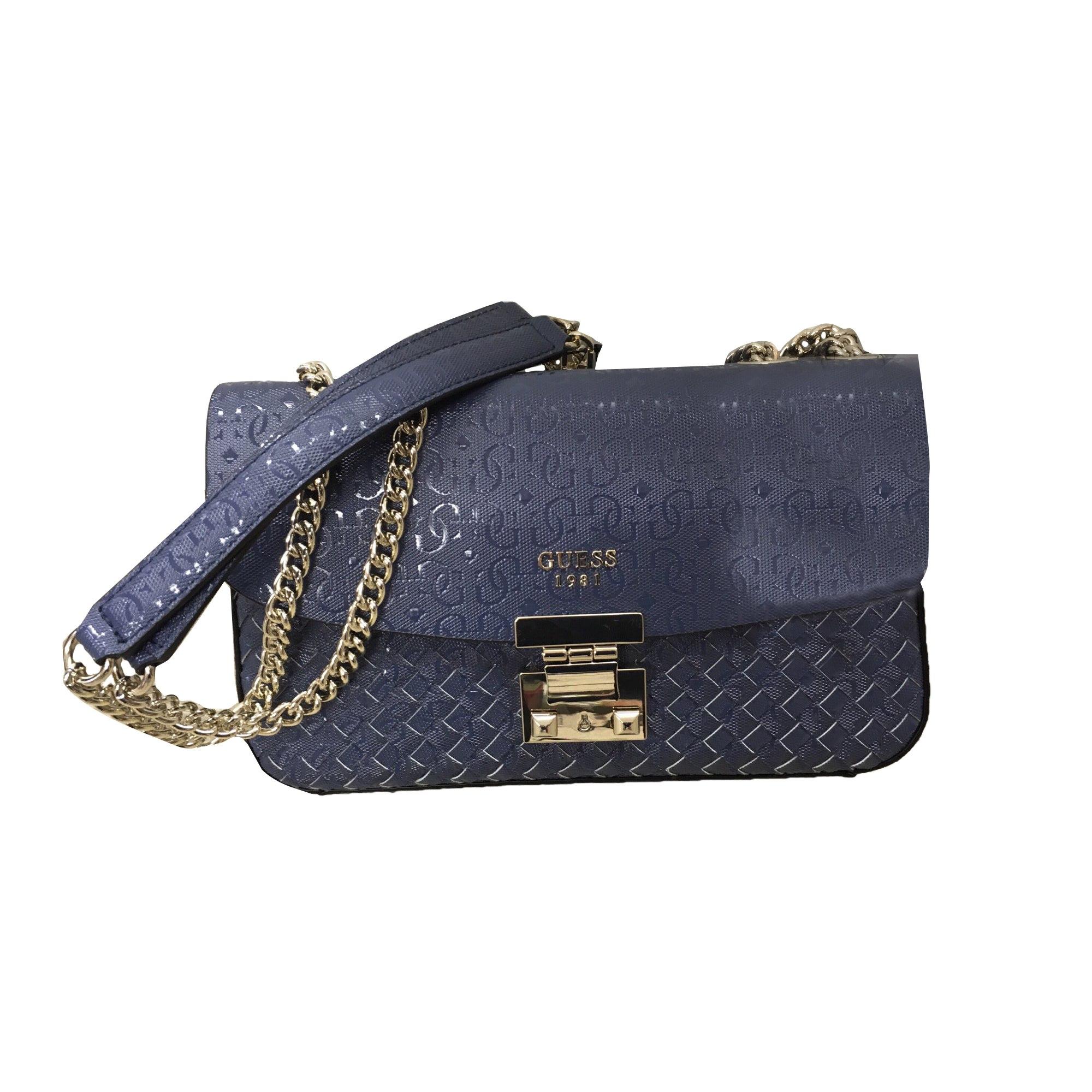 efe04737de Sac à main en cuir GUESS bleu vendu par Le vide dressing de chic ...