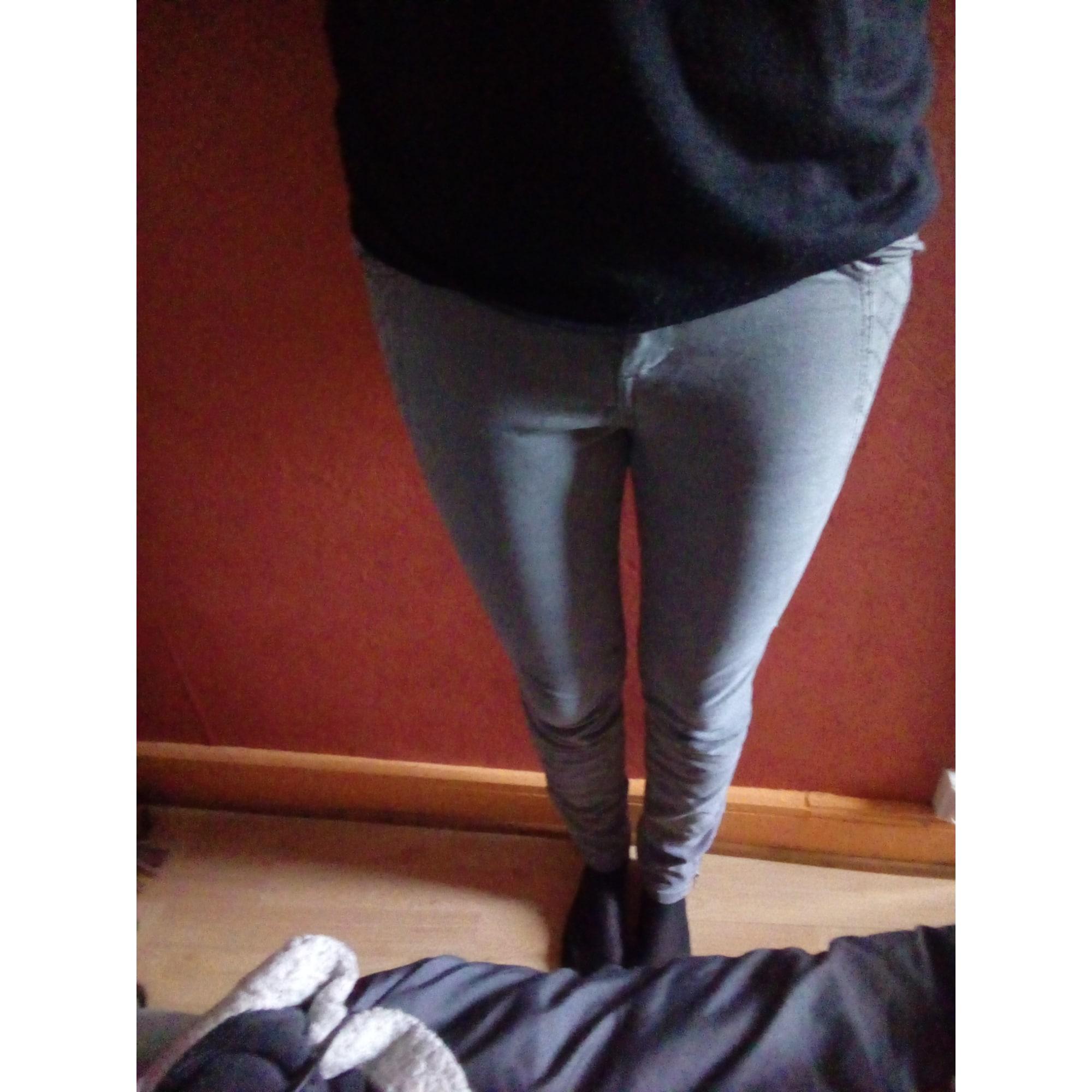 Pantalon slim, cigarette PIMKIE 38 (M, T2) gris - 7535772 85dac8c423d0