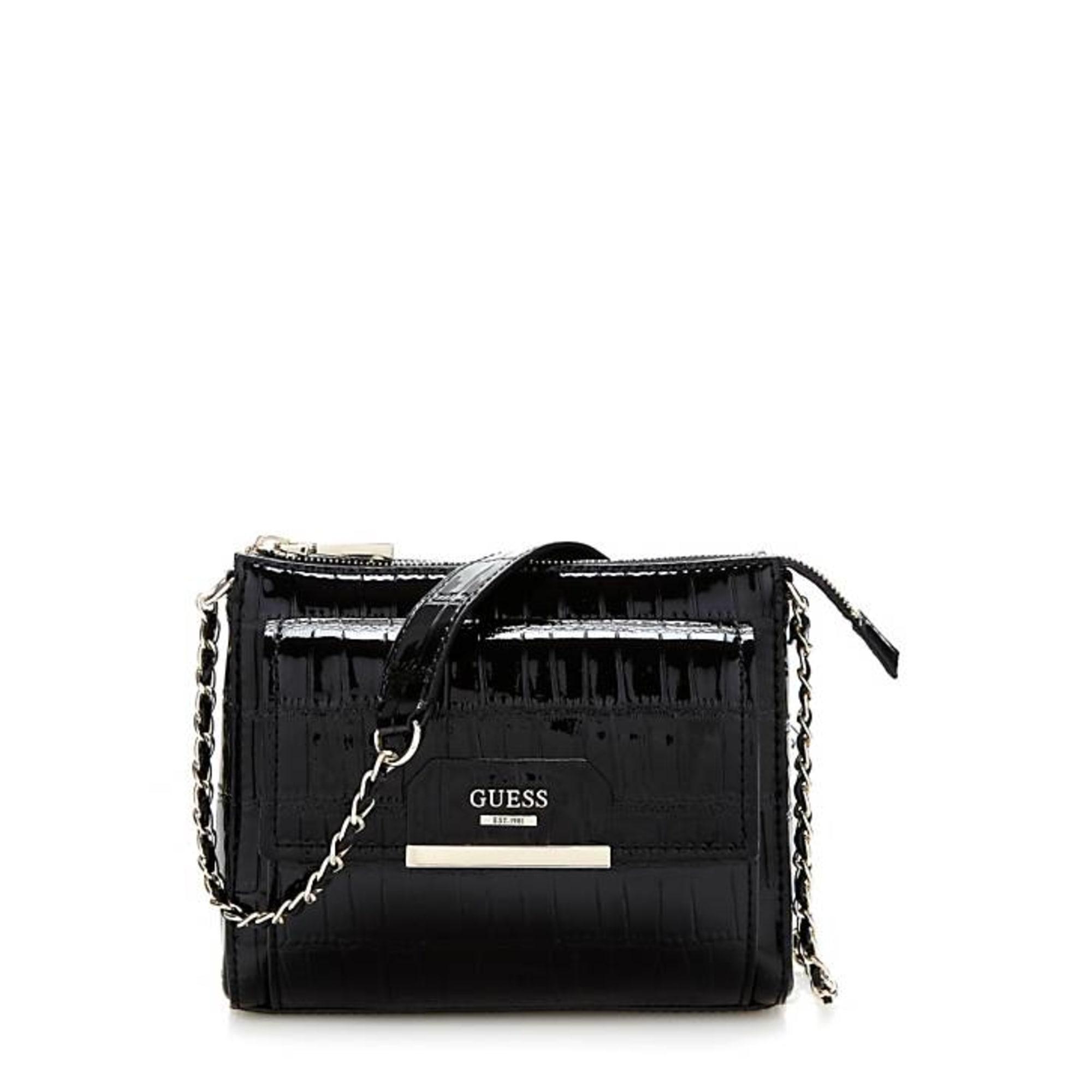 Leather Shoulder Bag GUESS Black