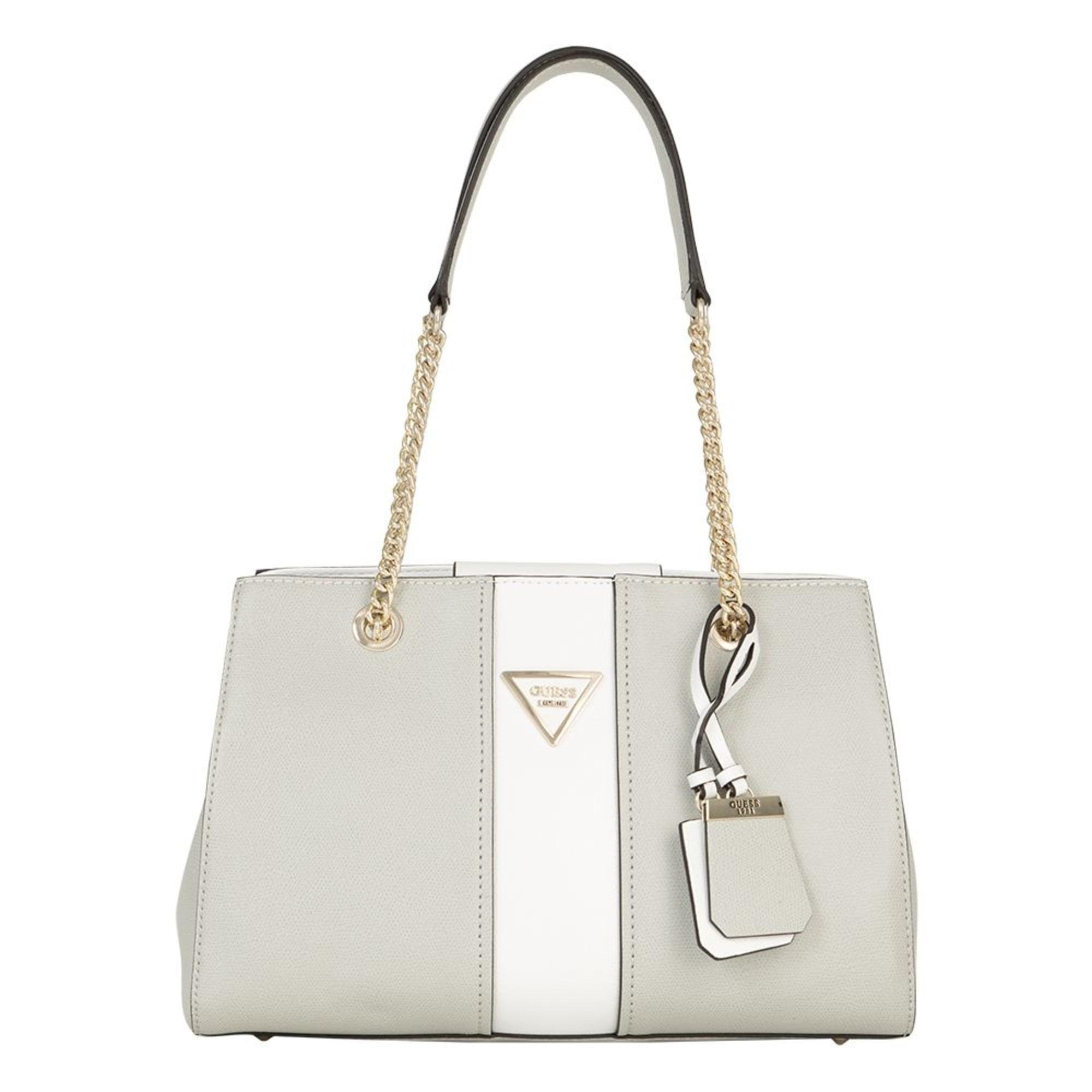 eac5c168e1 Sac à main en cuir GUESS blanc et gris perle vendu par Le vide ...