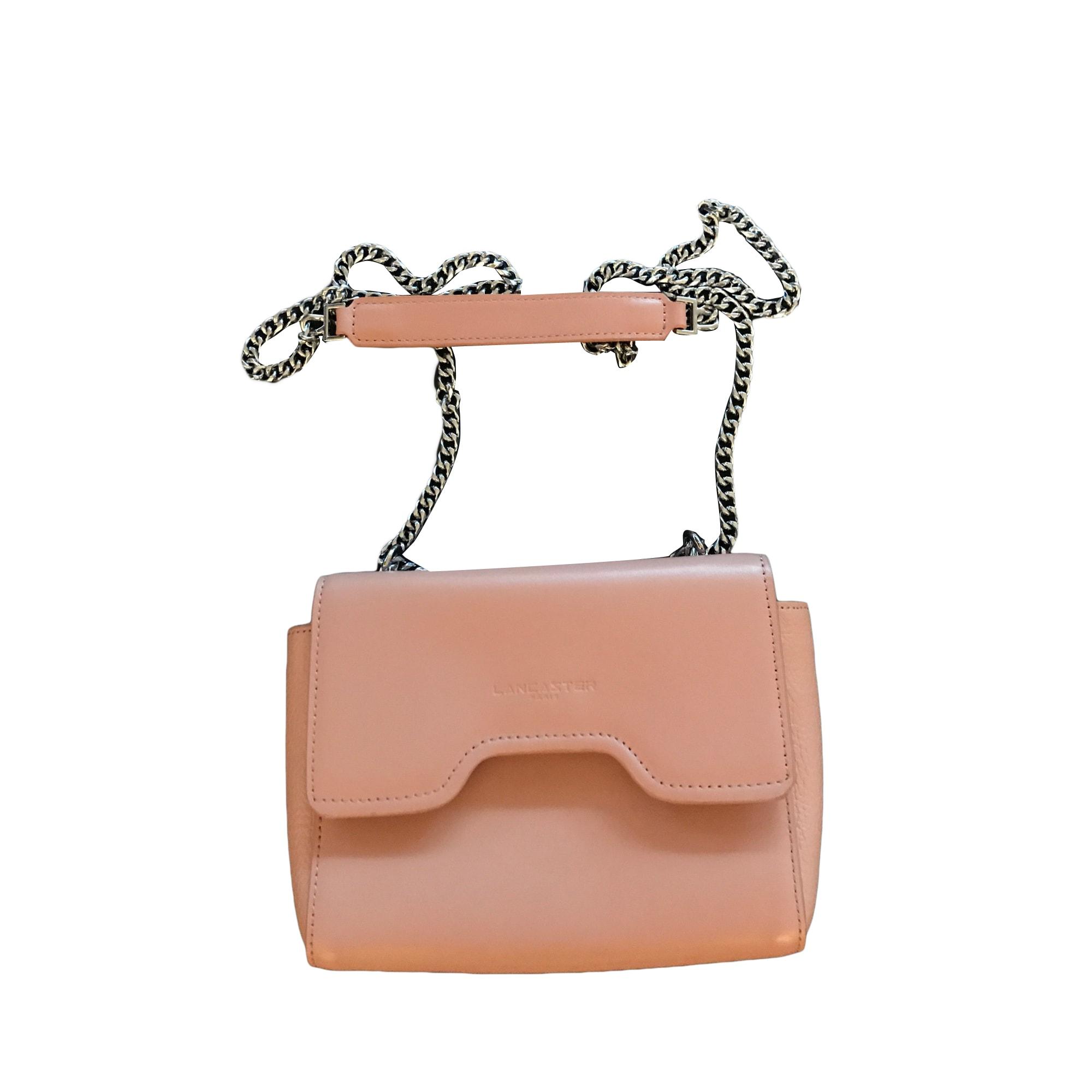 Leather Shoulder Bag LANCASTER Pink, fuchsia, light pink