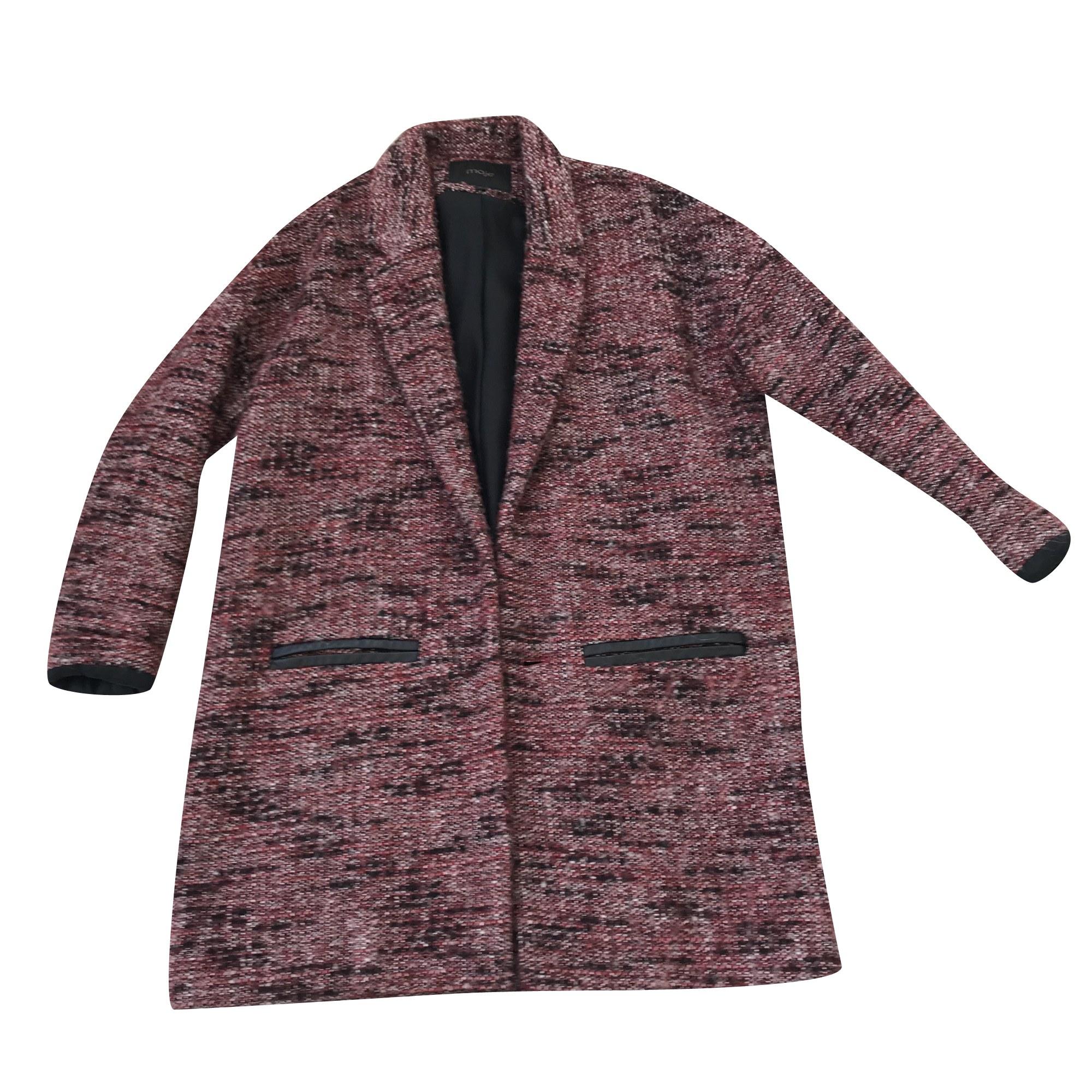 manteau bordeaux maje