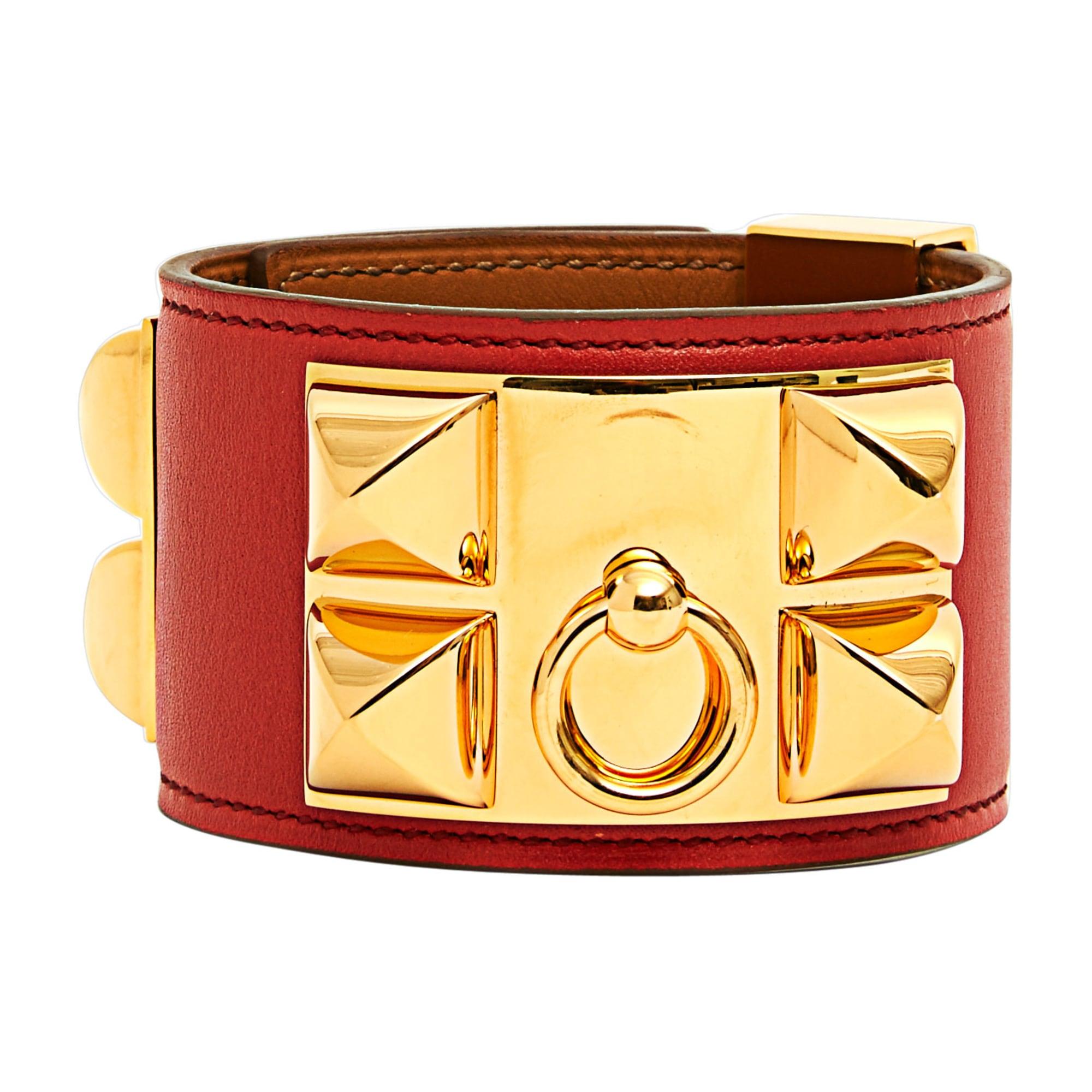good bracelet chaîne dencre hermès en argent a6901 46401  usa bracelet  hermÈs collier de chien doré bronze cuivre a7cf6 aa07d edbb08e5557
