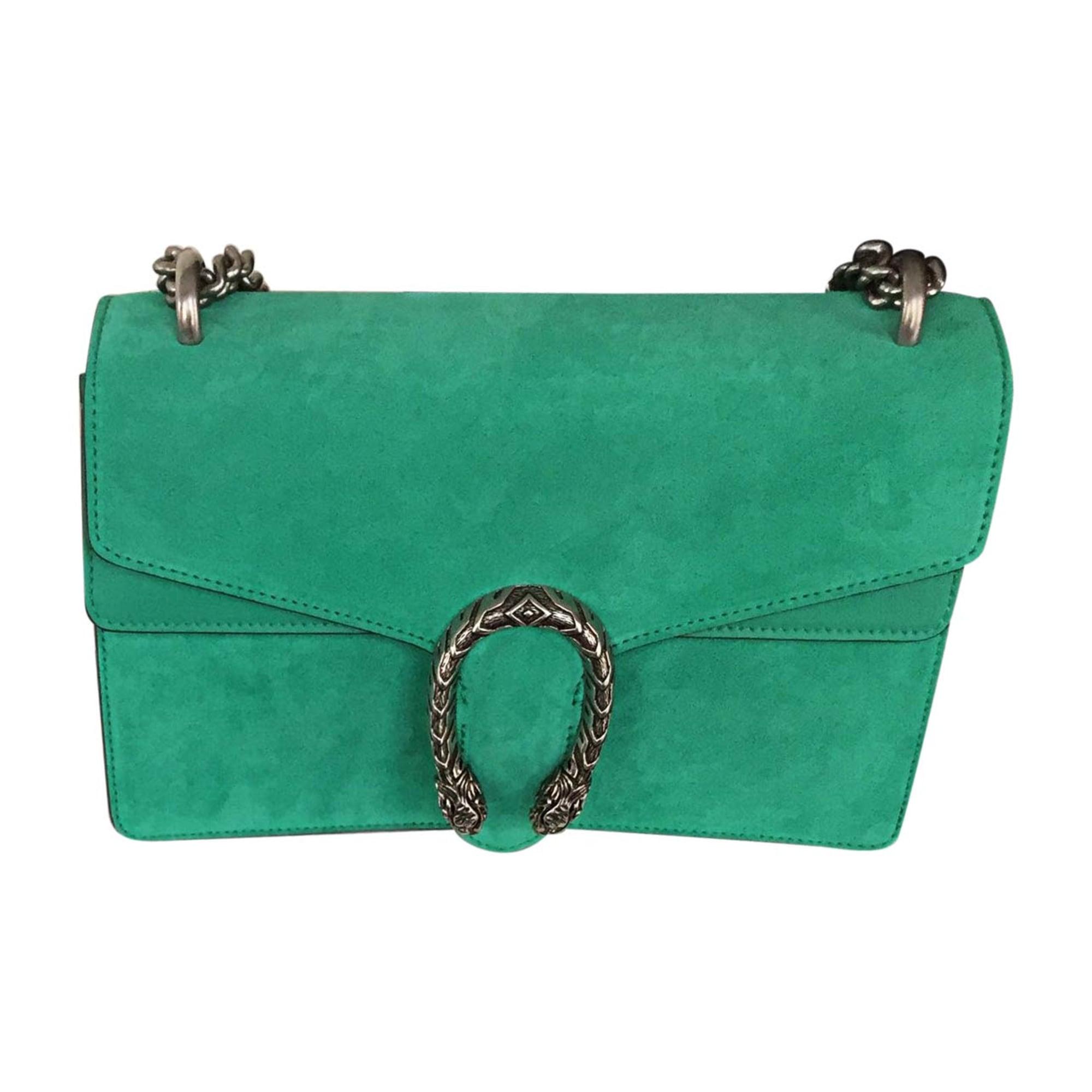 f5bd5aaa83b19 Leather Handbag GUCCI green - 7548340