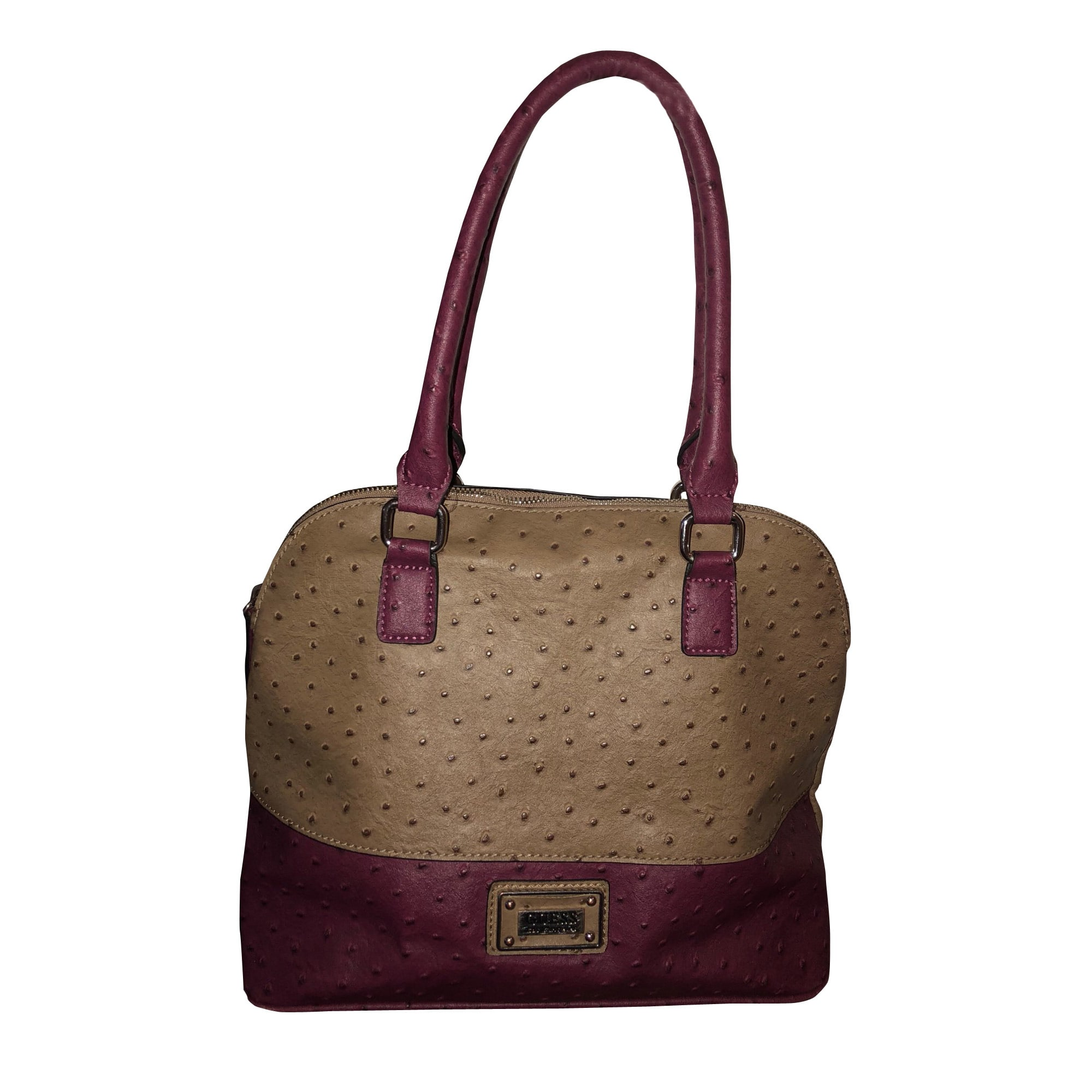 Leather Handbag GUESS Beige, camel
