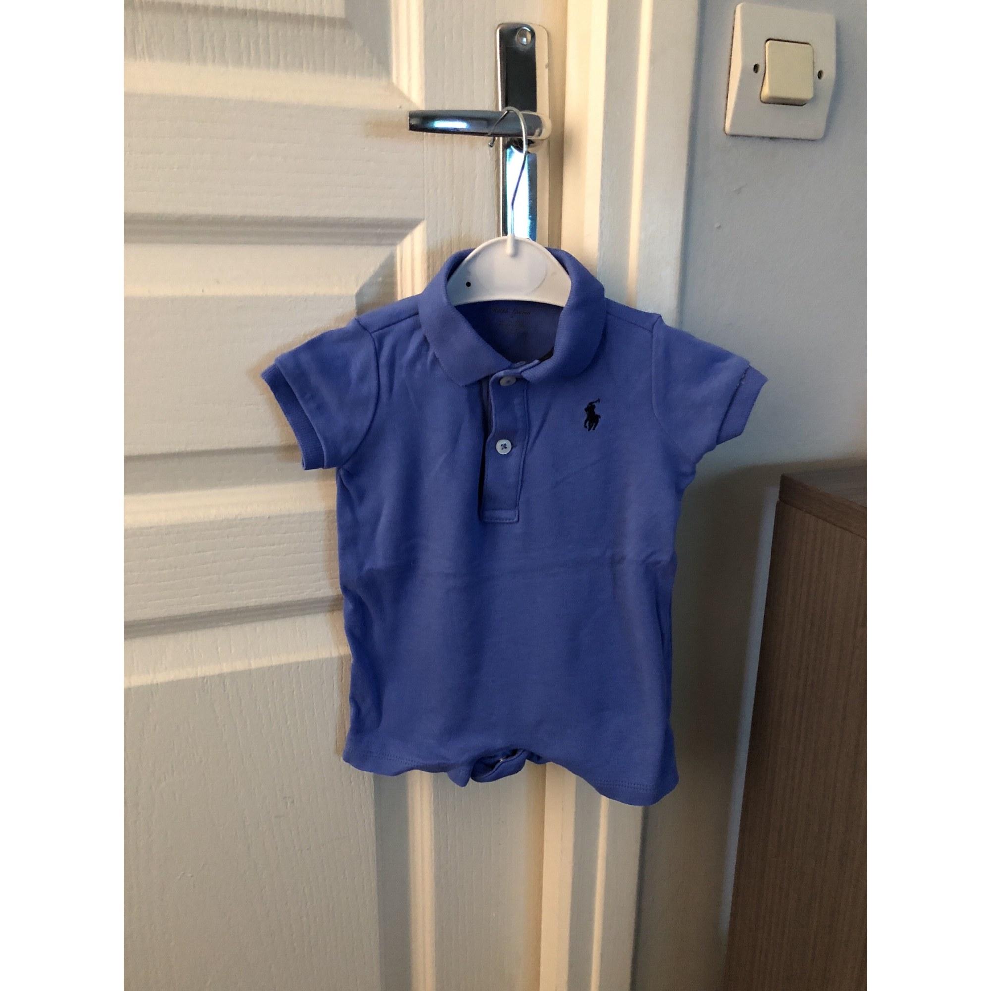 Ensemble   Combinaison short RALPH LAUREN Bleu, bleu marine, bleu turquoise 96d722d45efa