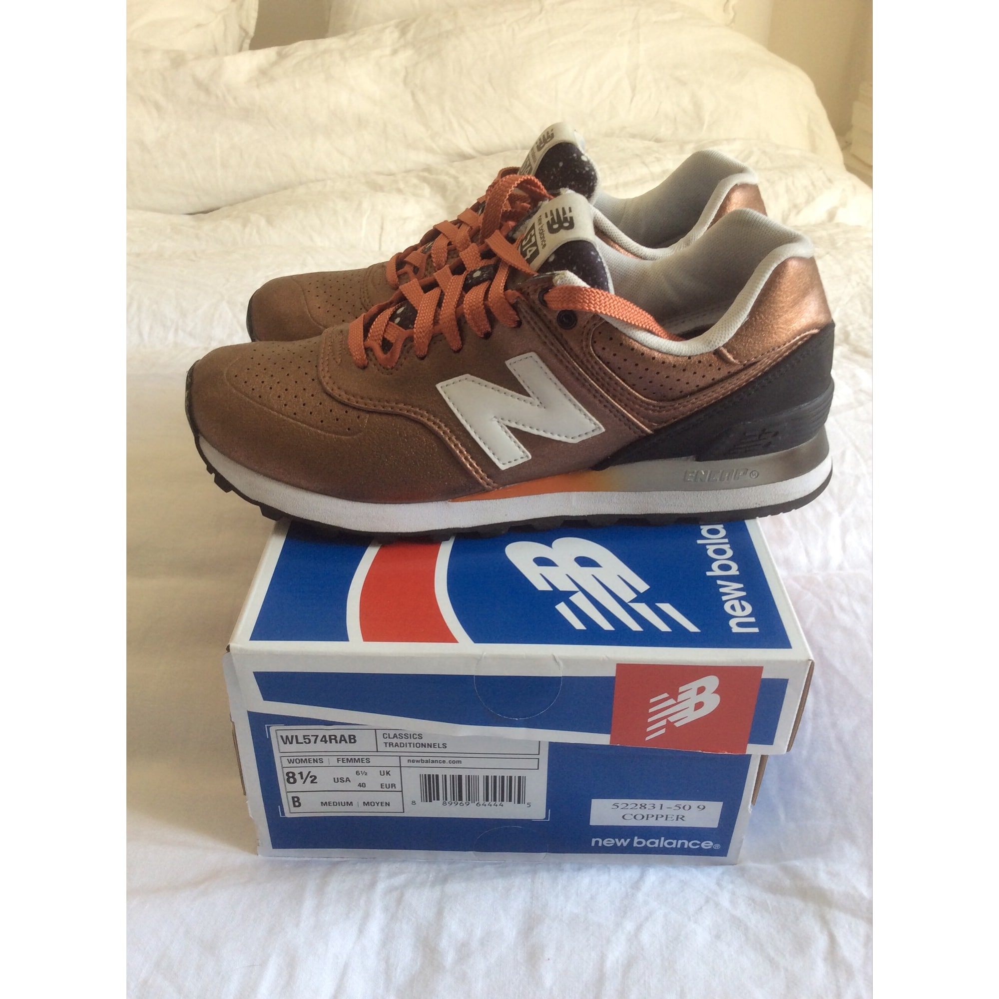 2e928e337416 Baskets NEW BALANCE Doré, bronze, cuivre