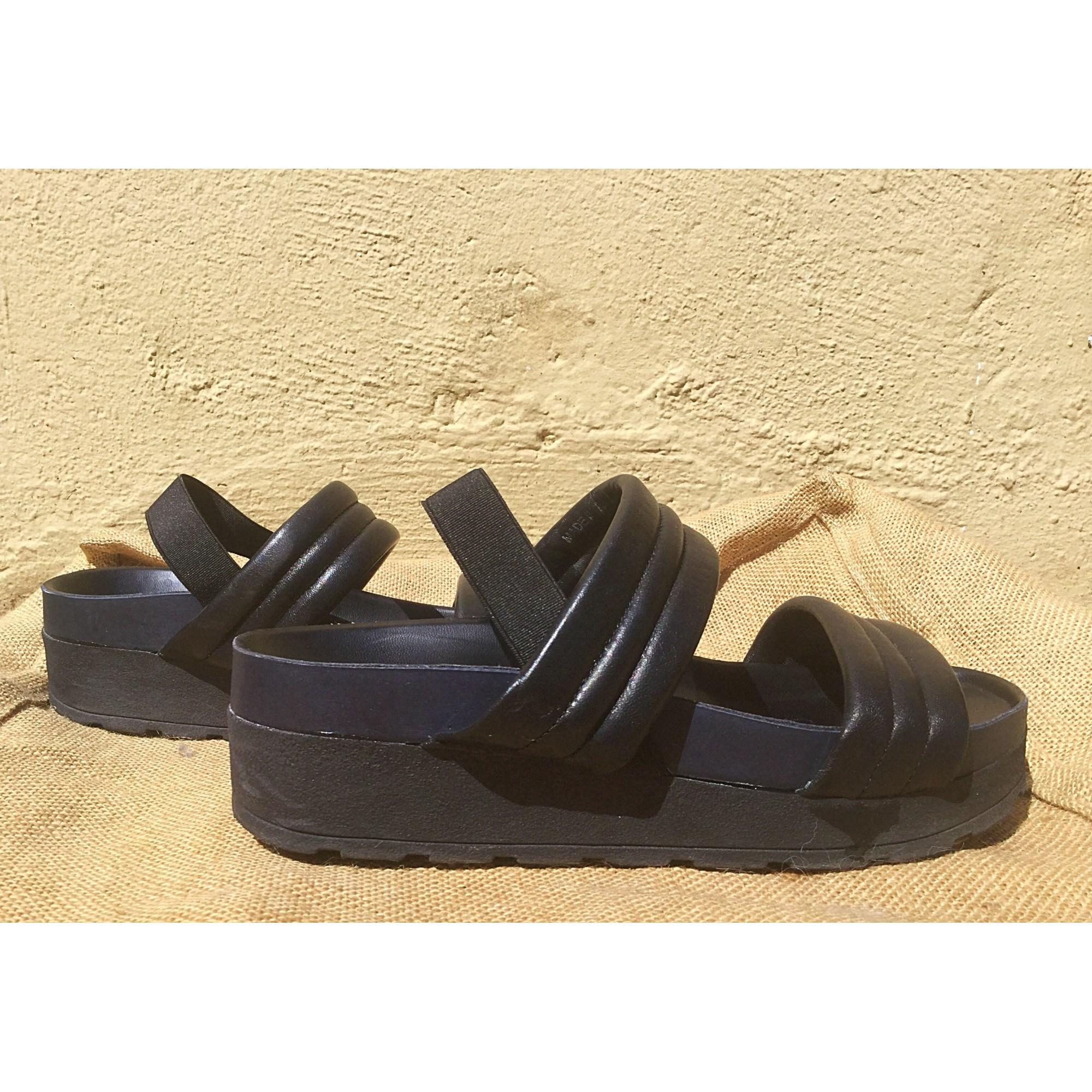 Noir Compensées Sandales Asos 7569895 38 MVUzpSGq