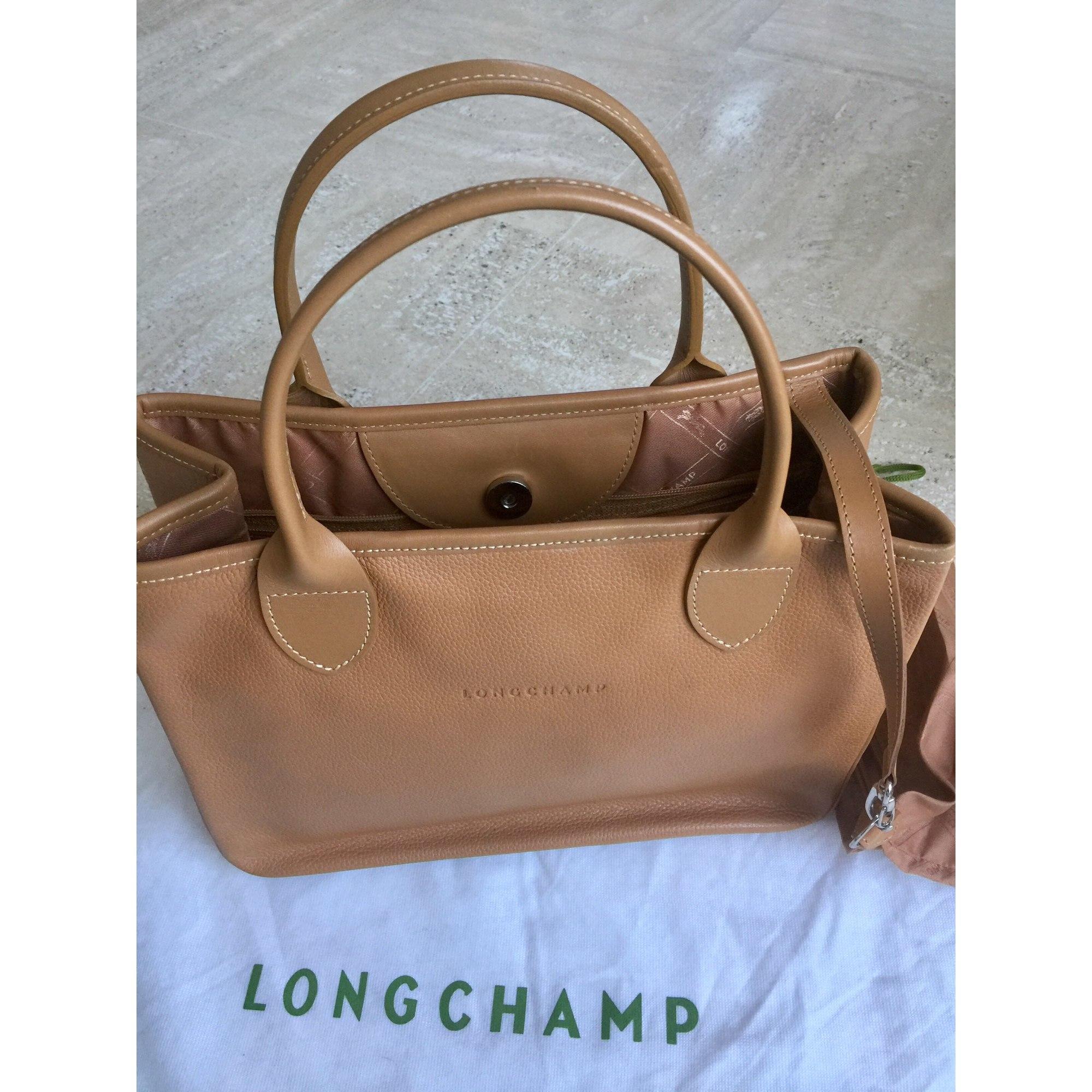eb2dc03566c8c Sac à main en cuir LONGCHAMP beige vendu par Lydie 1034 - 7570538