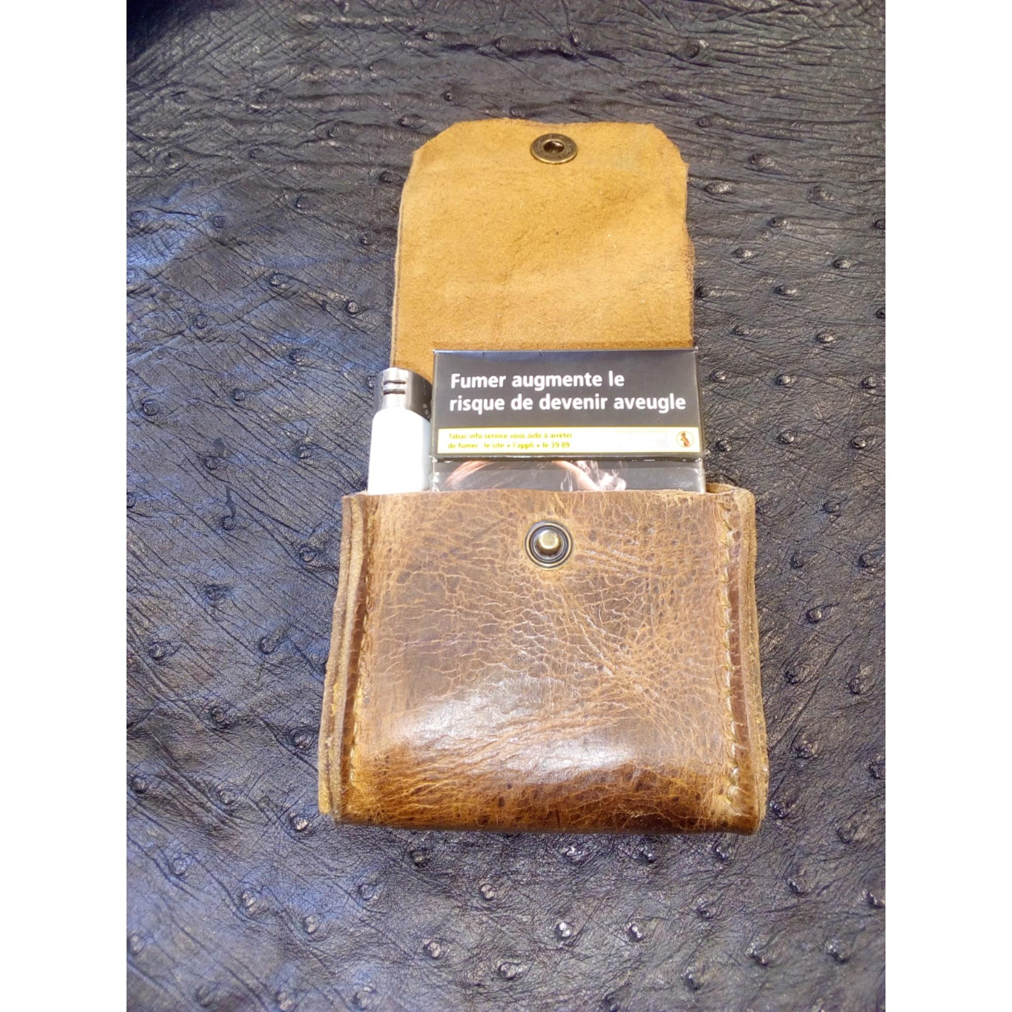 Porte-cigarette AUX NUANCES DU CUIR cuir marron