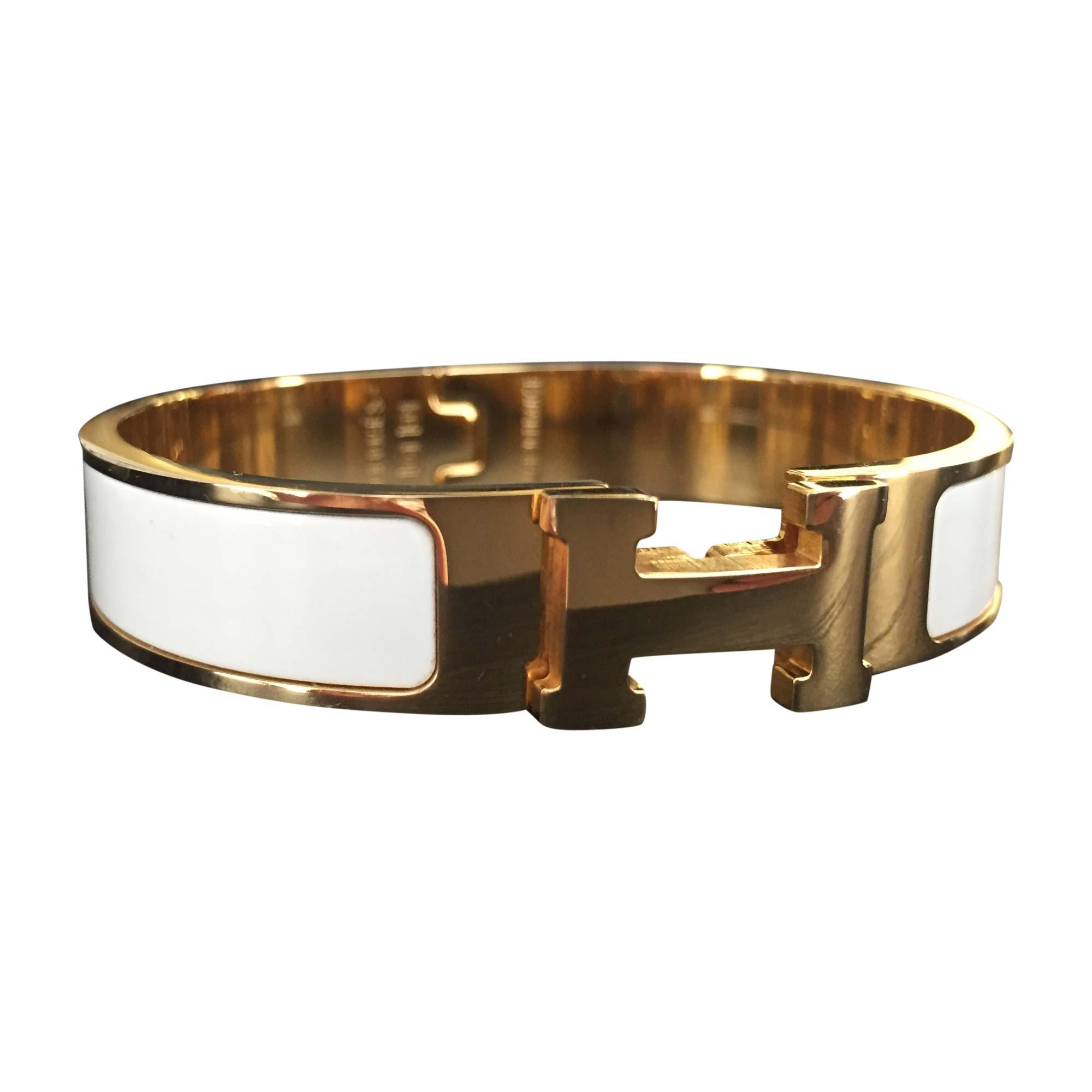3c310d091ada free shipping bracelet hermÈs clic h white off white ecru fc102 35b40