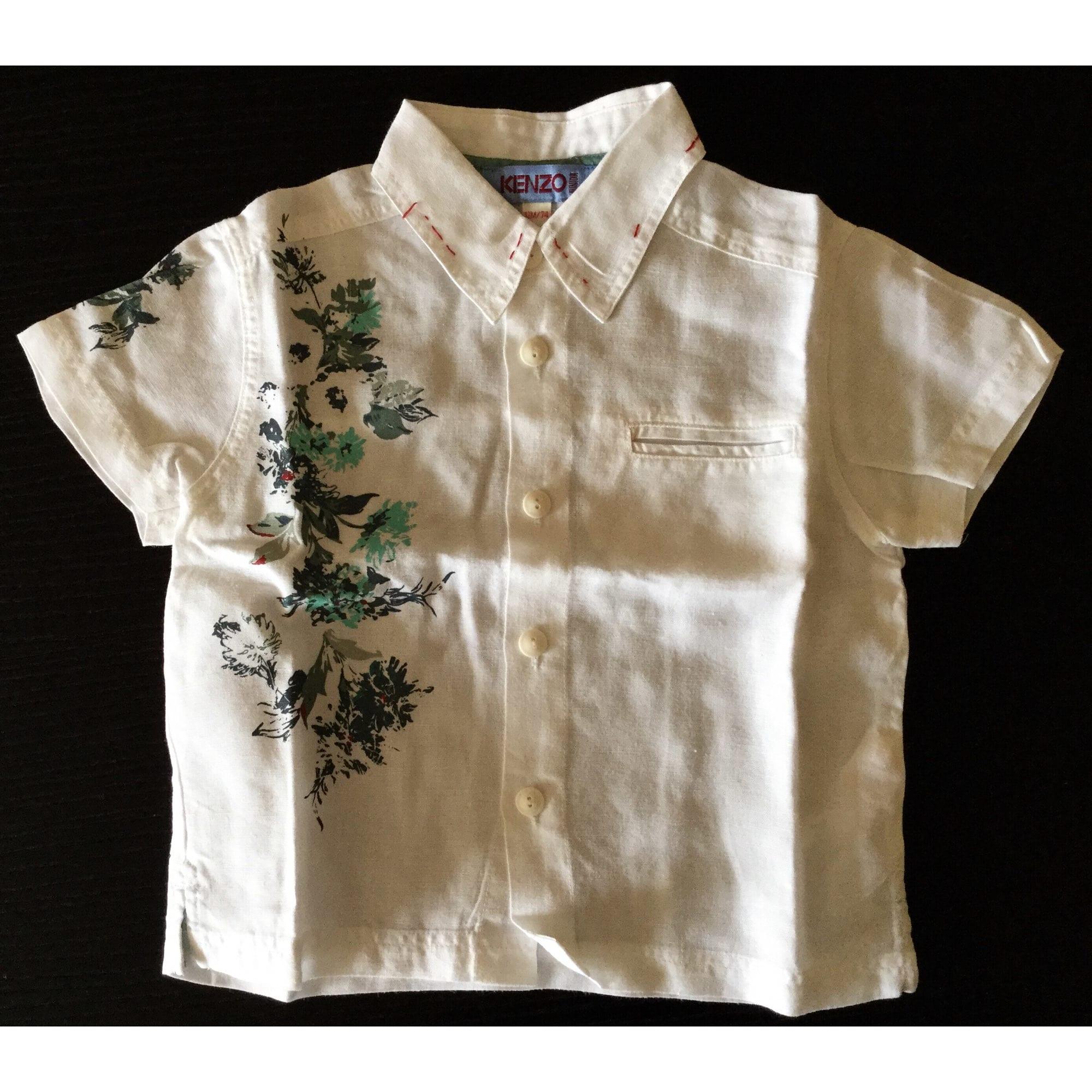Chemisier, chemisette KENZO Blanc, blanc cassé, écru
