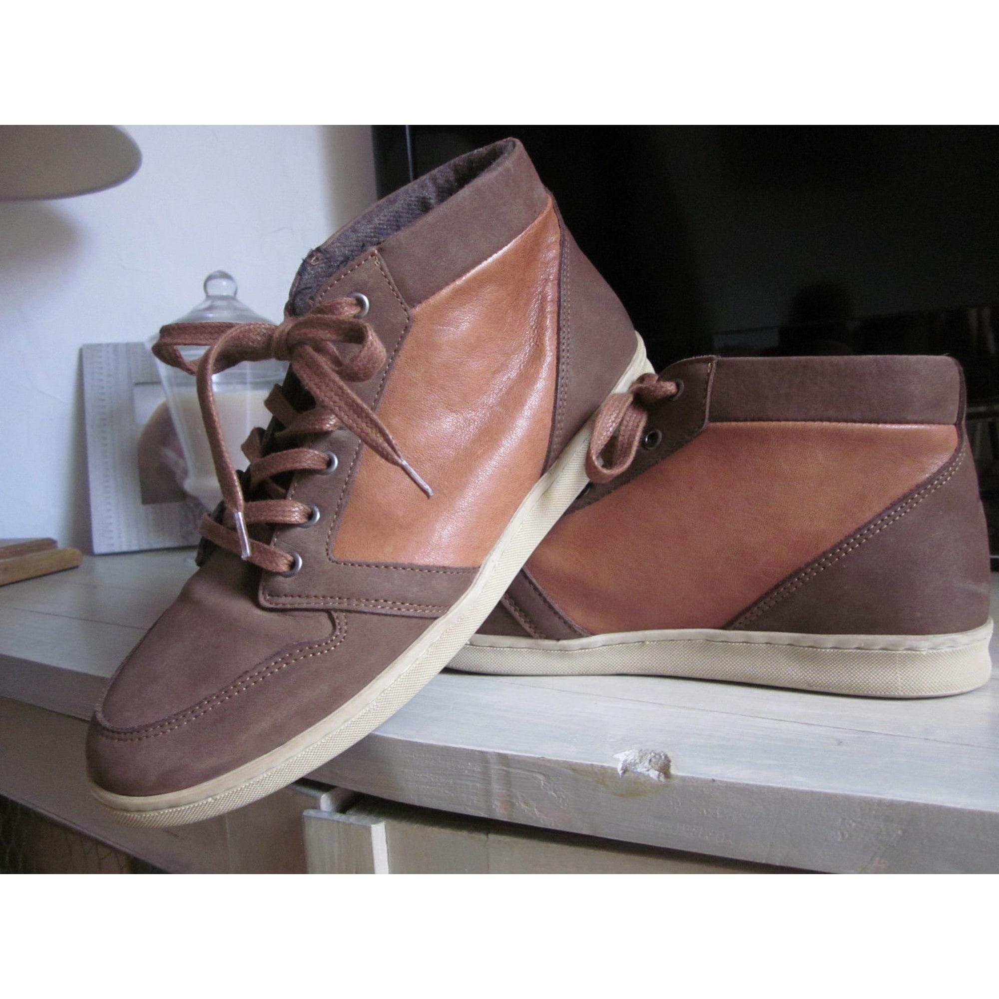 Chaussures à lacets KOST Marron