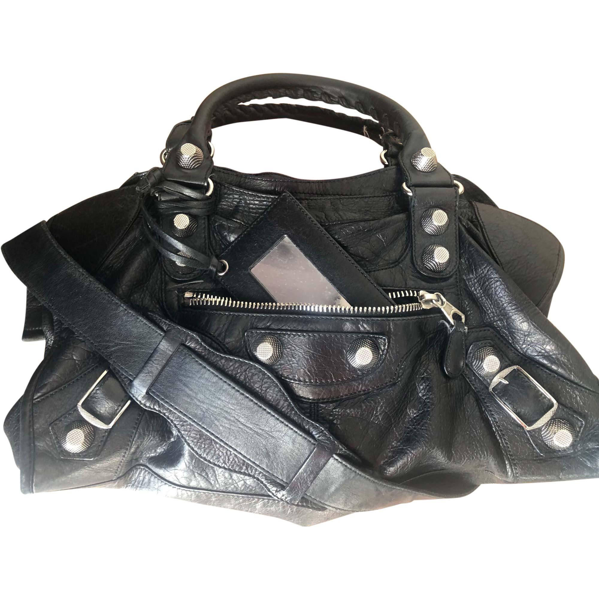 0ed3845c58 Sac en bandoulière en cuir BALENCIAGA noir vendu par Coraline 268 ...