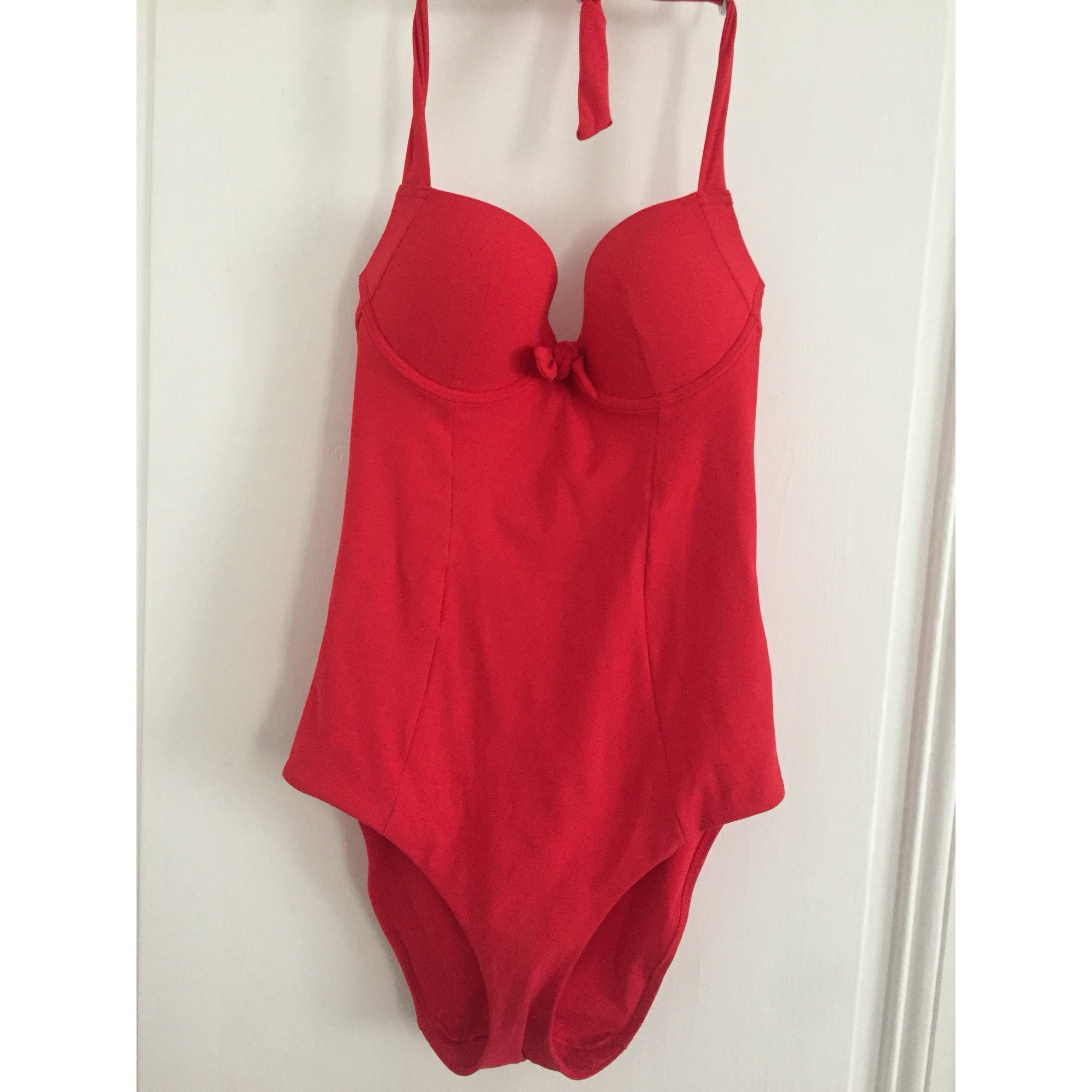 311b97fdfb Maillot de bain une-pièce ETAM LINGERIE 38 (M, T2) rouge - 7598079