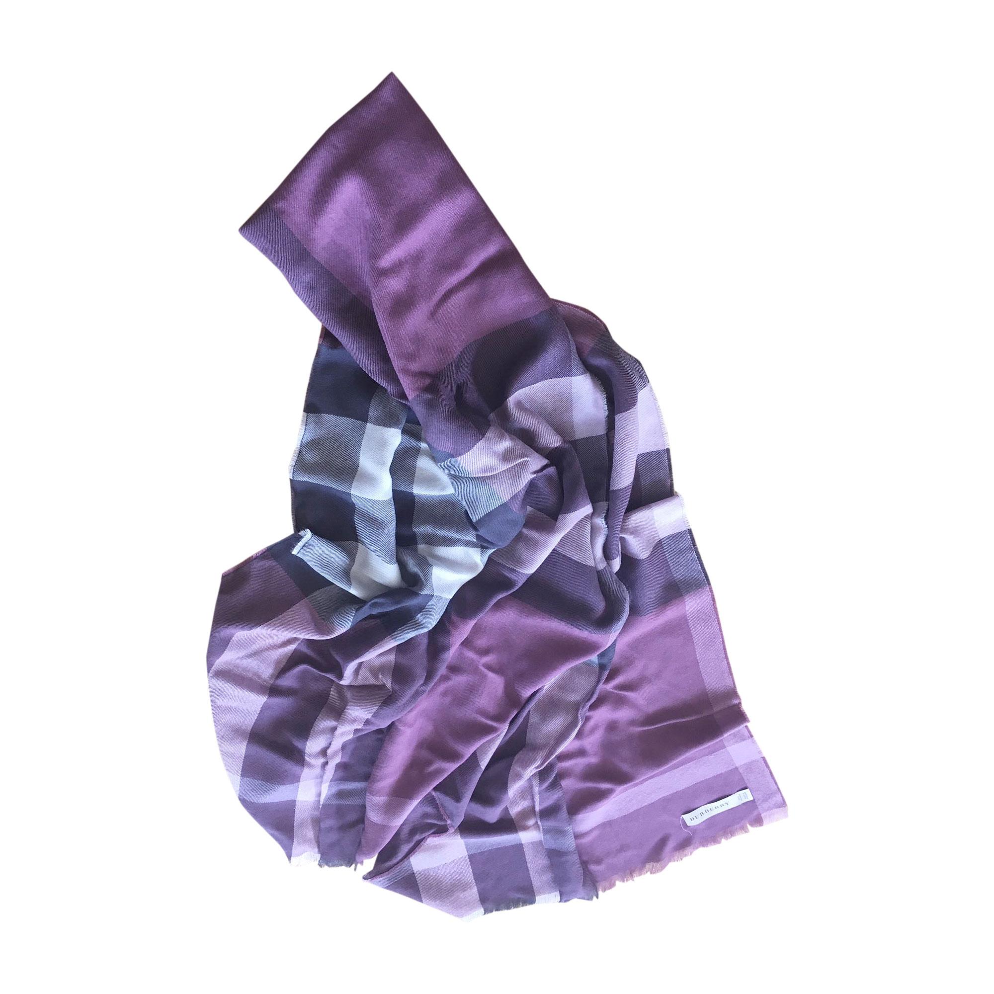 ce808fff48a4 Echarpe BURBERRY Violet, mauve, lavande
