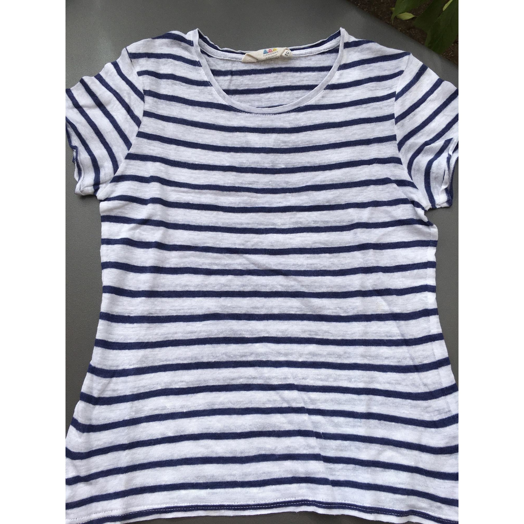 Ans Shirt Bleu Et Little Blanc 7605527 10 9 Tee Paris Eleven Top Raye 0qw15U