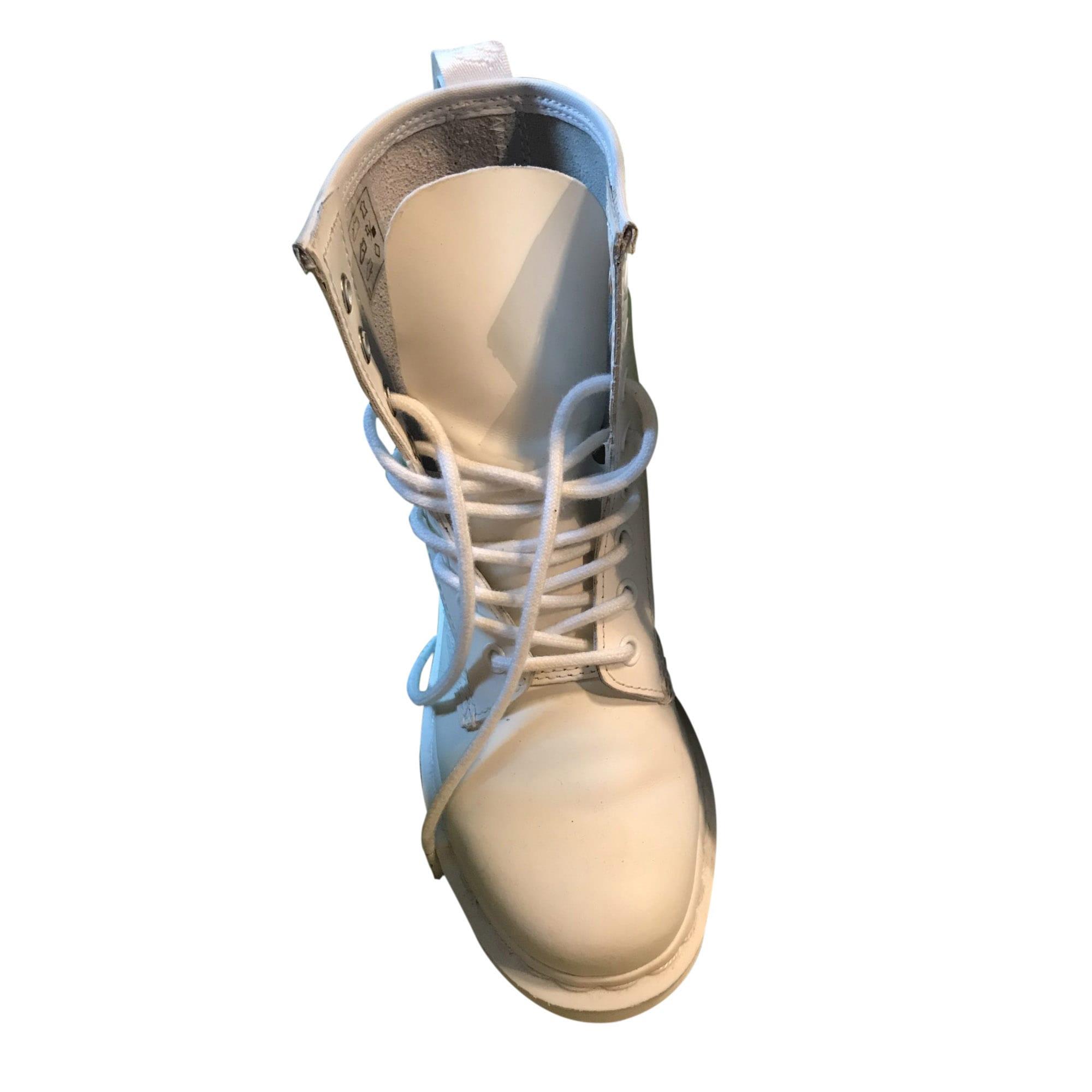 Chaussures Martens Dr Claudine549305 Blanc À Par Lacets 36 Vendu FgfWqgc