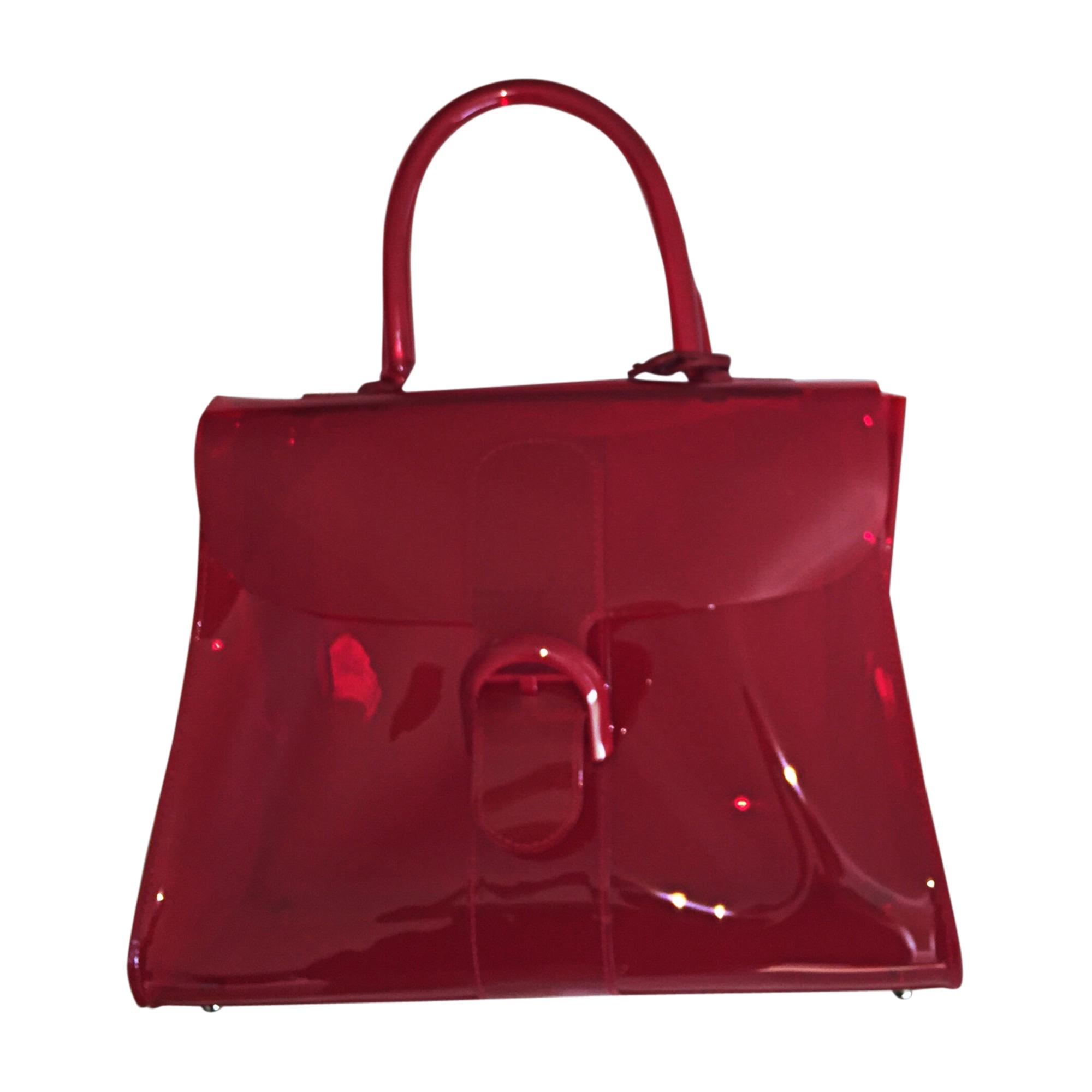 cuir à Sac Rouge en vif DELVAUX main transparent wBtFHAqBWc