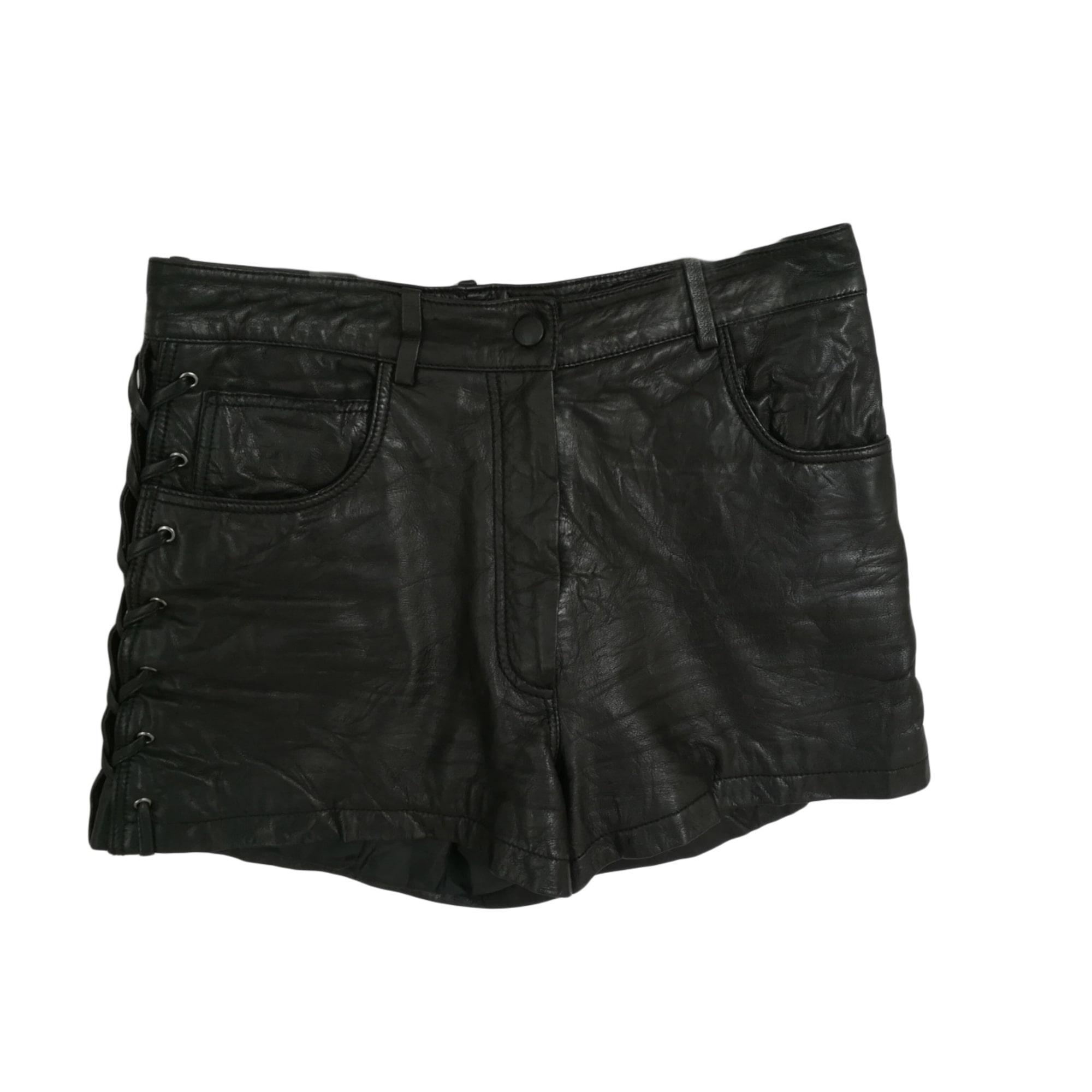Maje Short cuir 36 (S, T1)