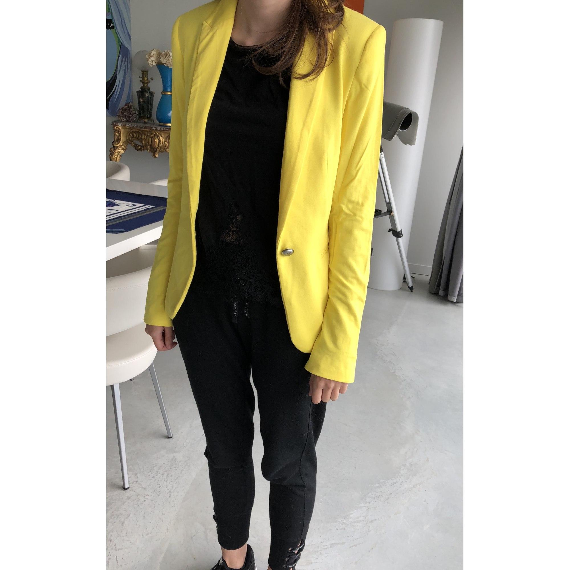 Veste tailleur femme jaune zara
