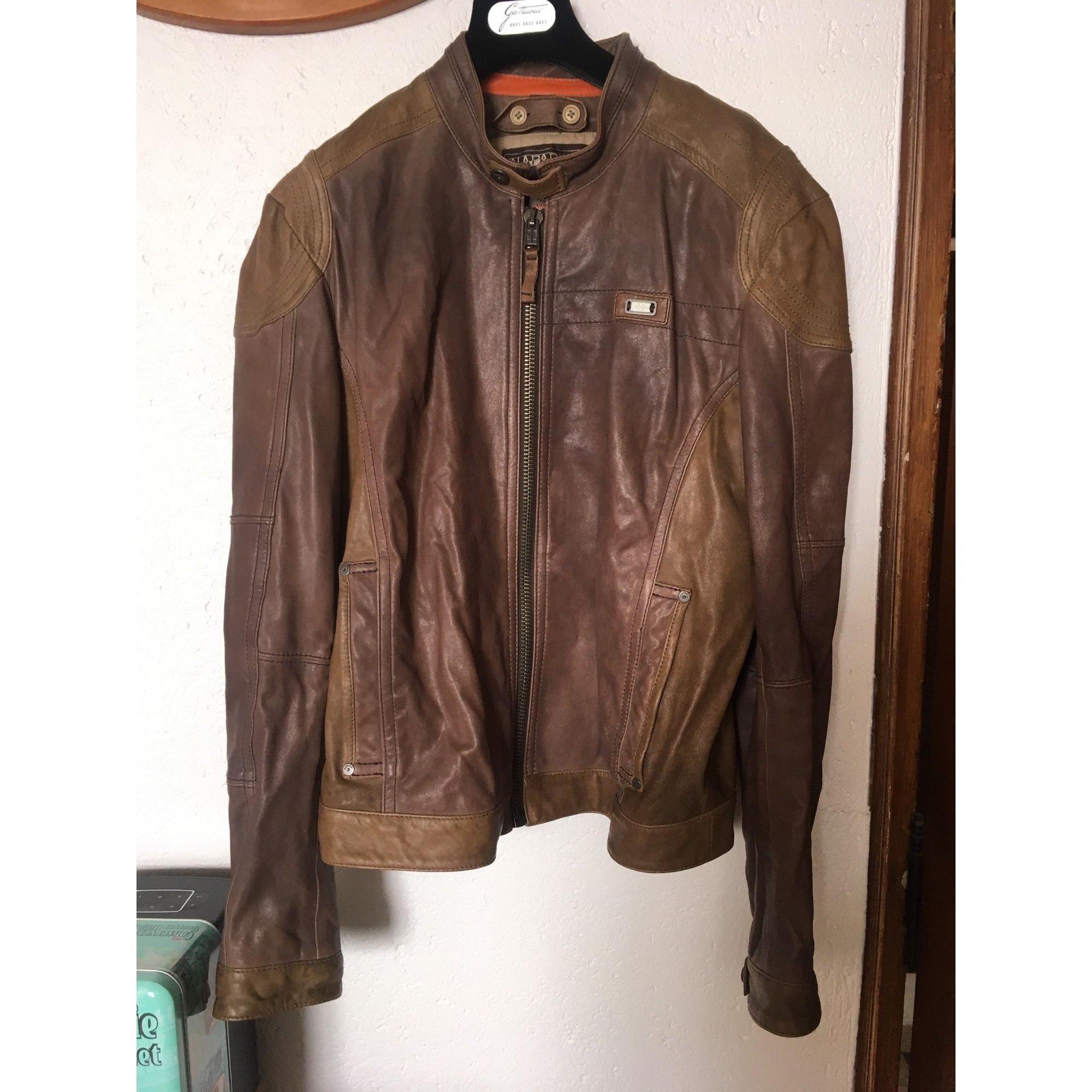 Blouson en cuir NAPAPIJRI 52 (L) marron -
