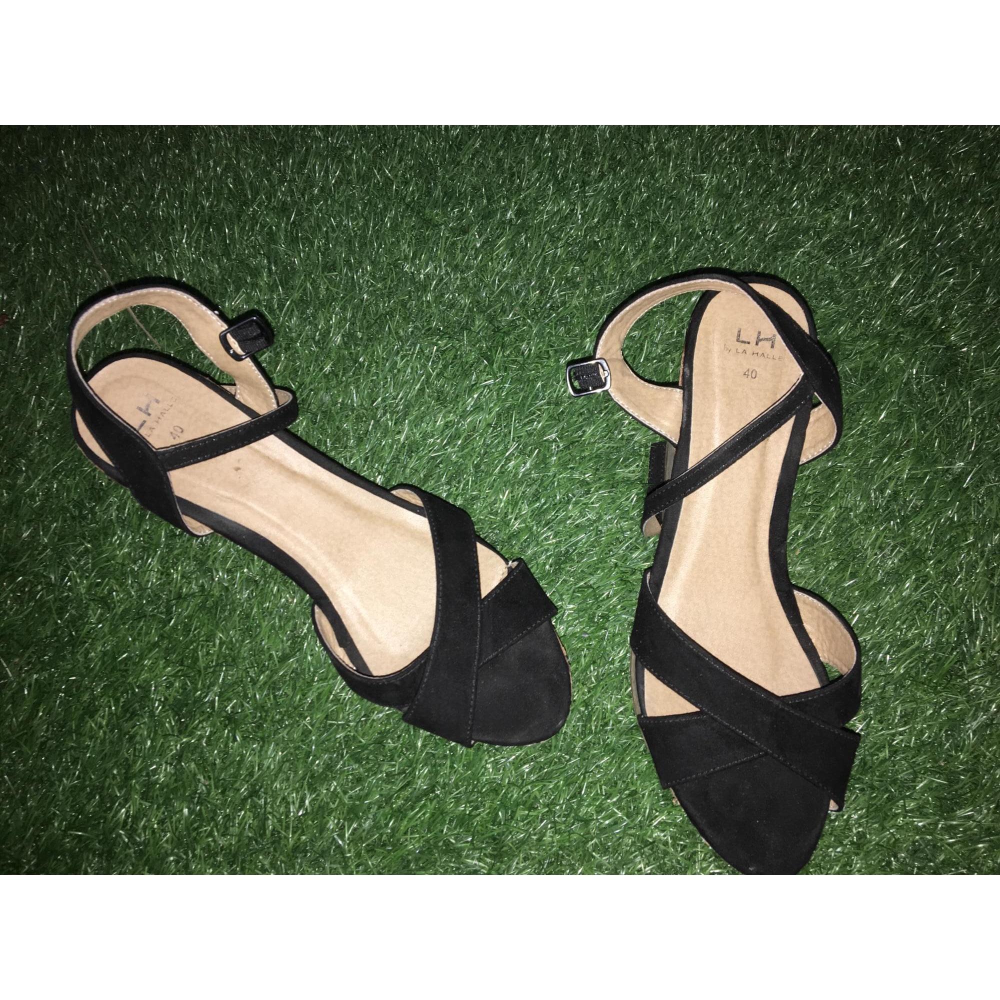 Compensées Halle 40 Sandales Aux Chaussures La Noir 7641407 FJTl1Kc3