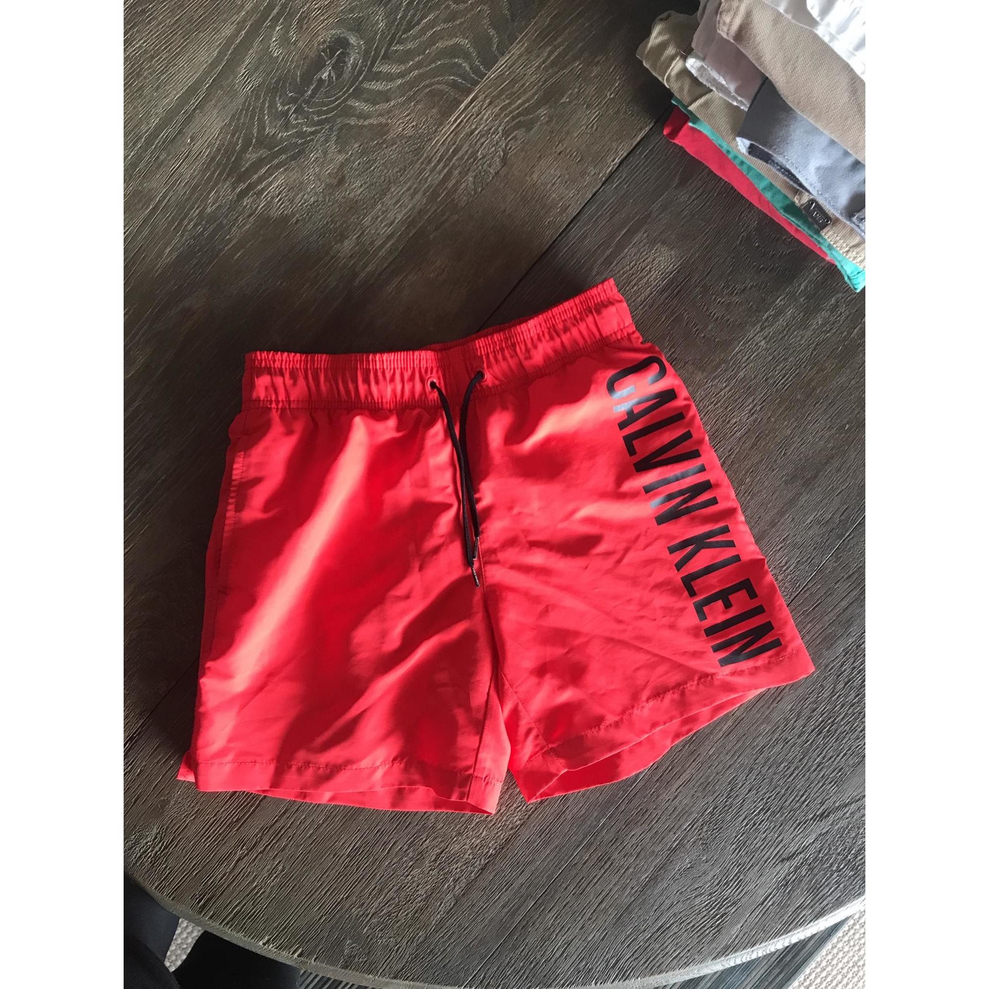 Swim Shorts CALVIN KLEIN Red, burgundy