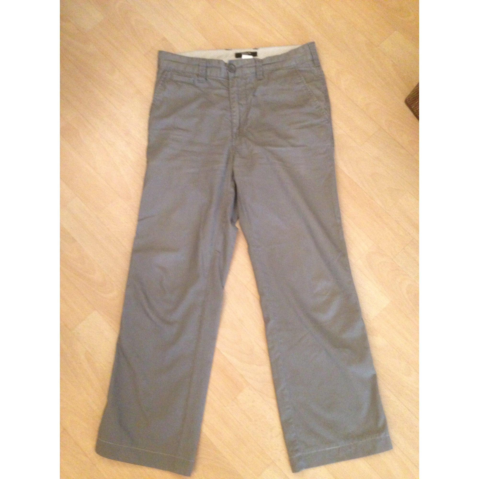 Pantalon droit LA REDOUTE Gris, anthracite