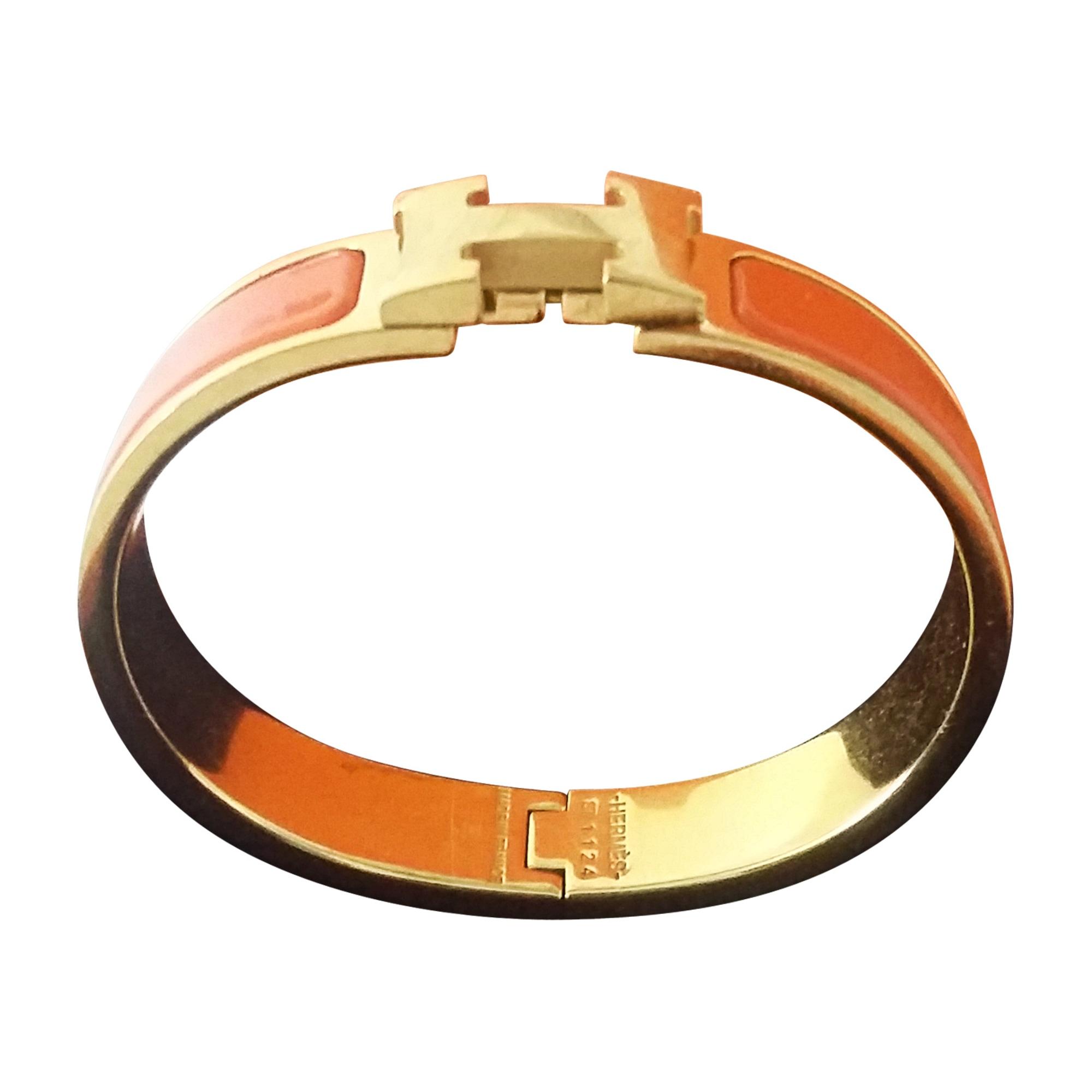 8267e06ca9e4 Bracelet HERMÈS clic h orange vendu par Vis - 7644290