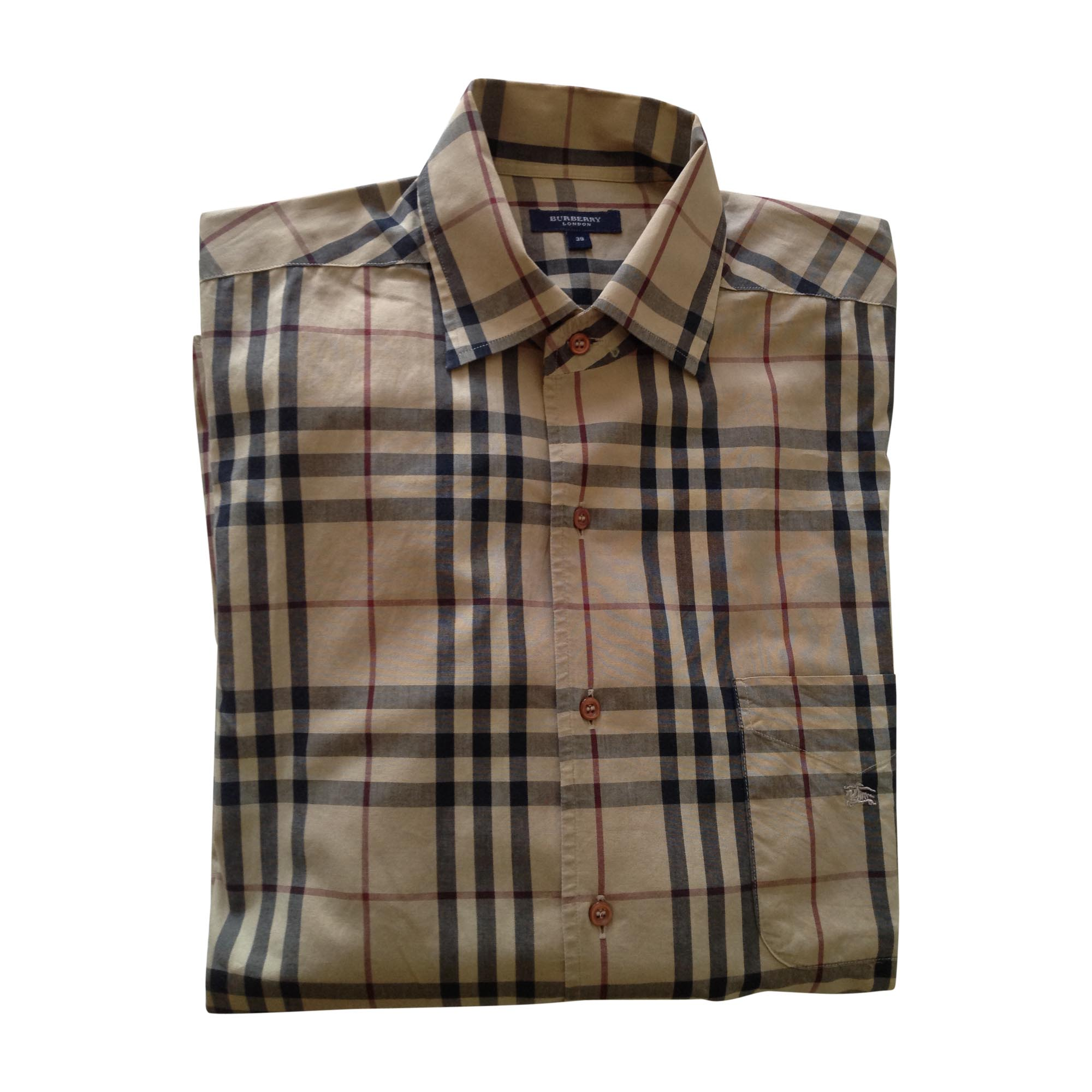 bb1409d2a4b2 Chemise BURBERRY 39 40 (M) beige - 7644455