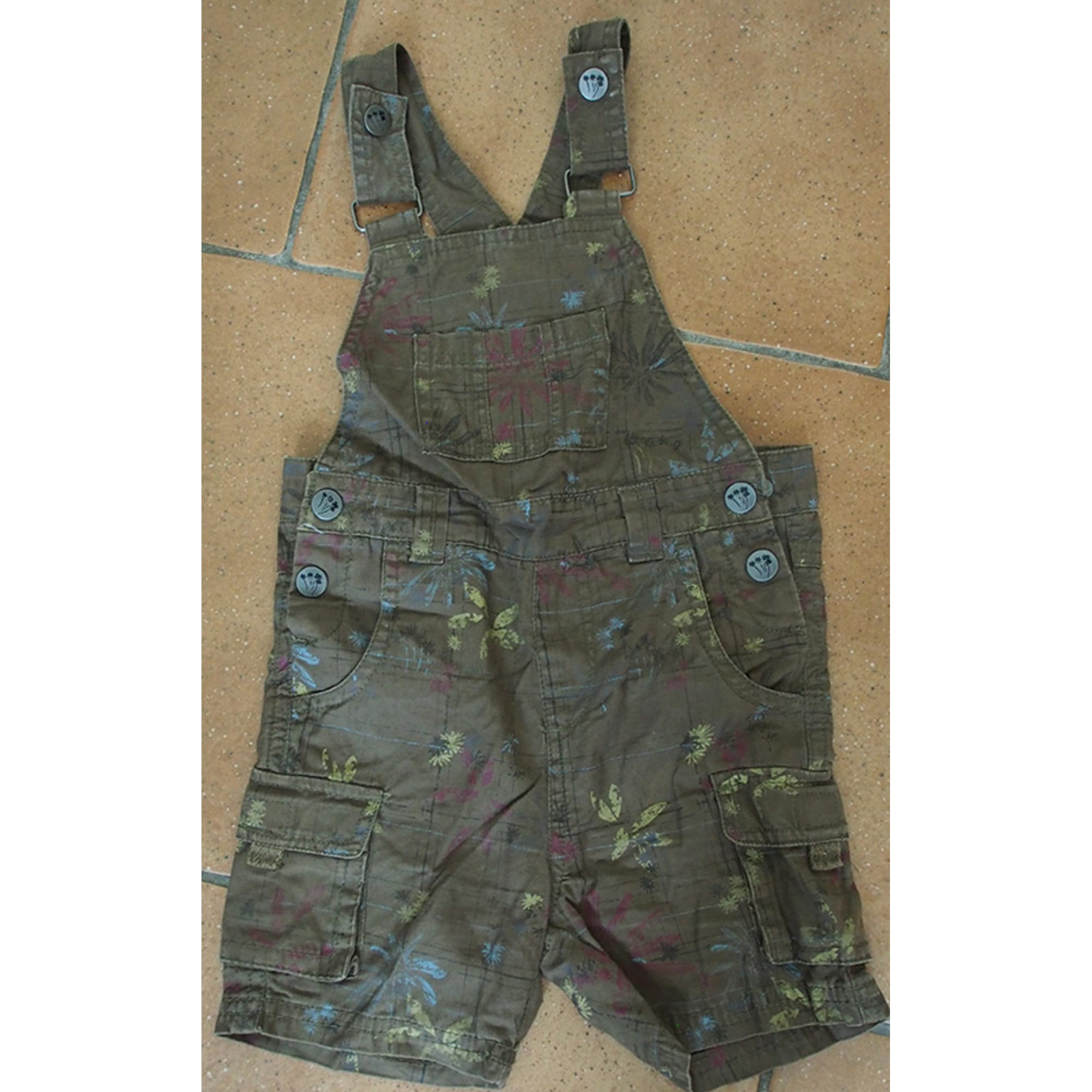 Salopette short KIDKANAI Marron